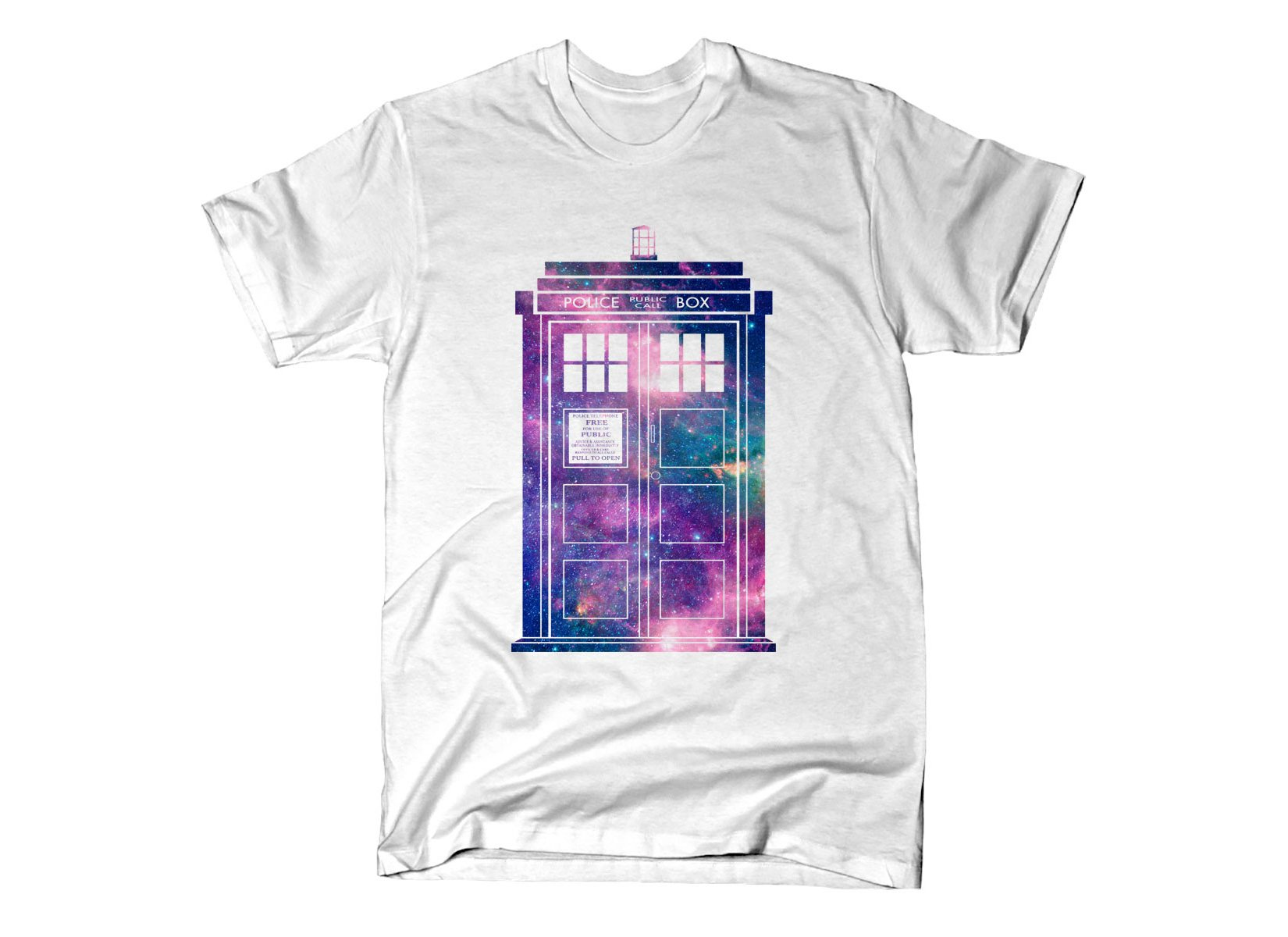 Police Box on Mens T-Shirt
