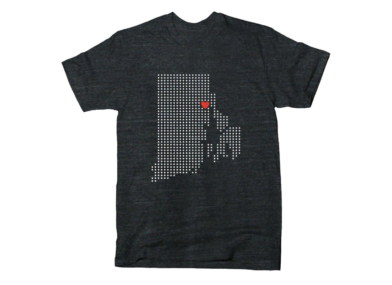 RI Grid on Mens T-Shirt
