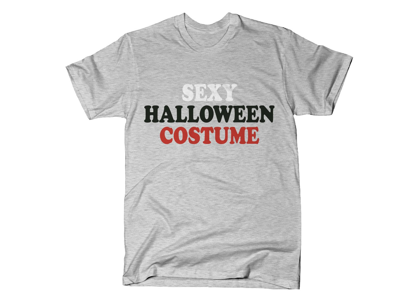 Sexy Halloween Costume on Mens T-Shirt