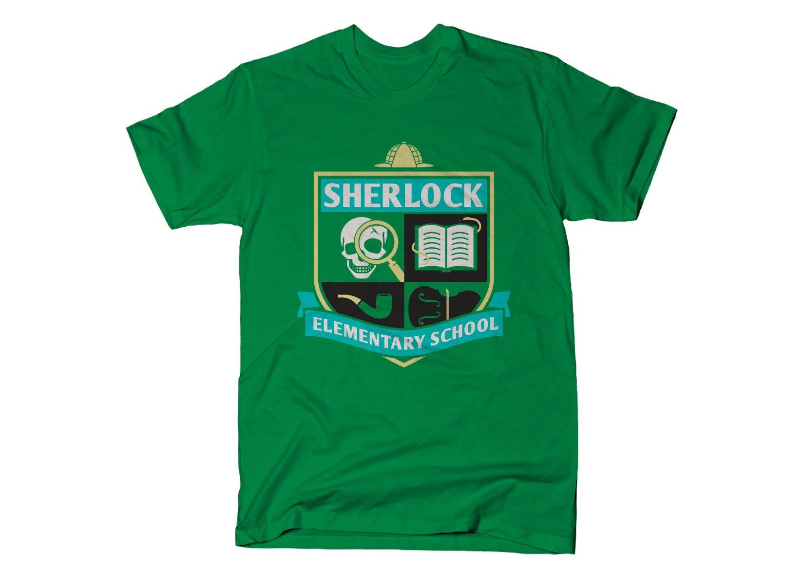 Sherlock Elementary School on Mens T-Shirt