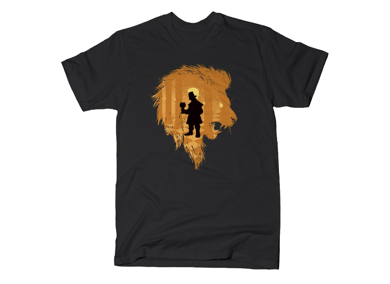 The Lion on Mens T-Shirt