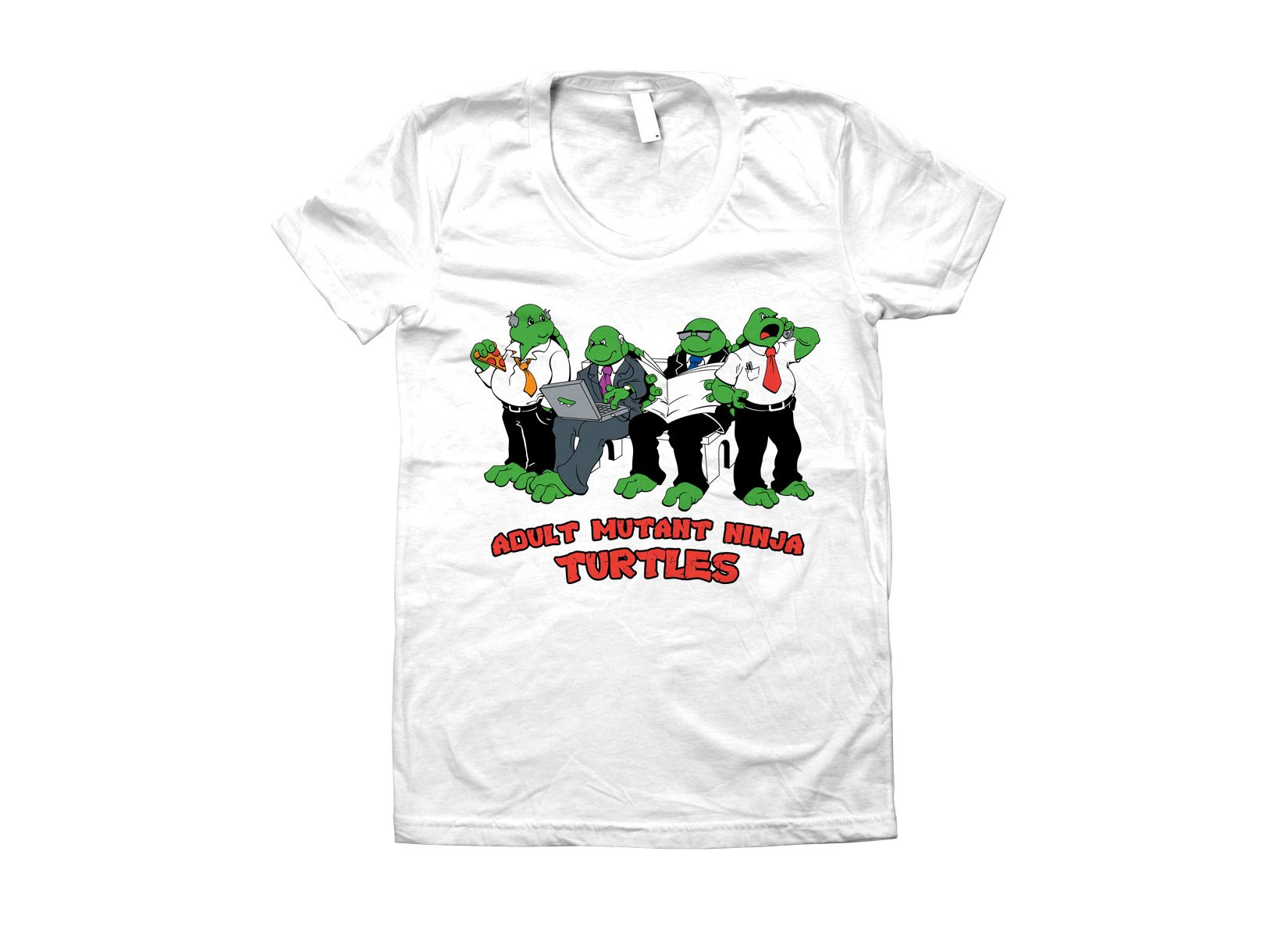Adult Mutant Ninja Turtles on Juniors T-Shirt