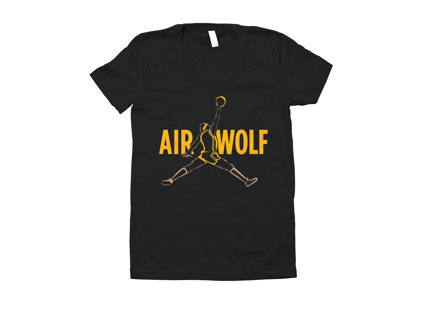 Air Wolf on Juniors T-Shirt