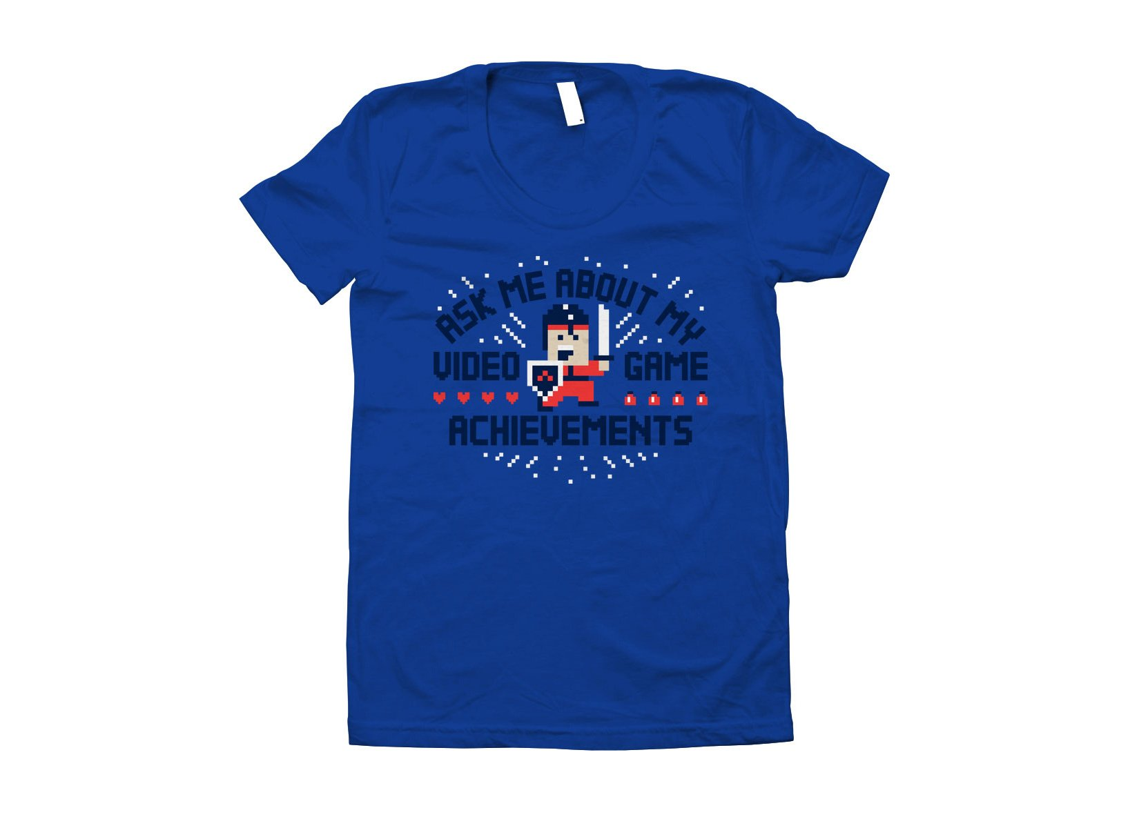 Ask Me About My Video Game Achievements on Juniors T-Shirt
