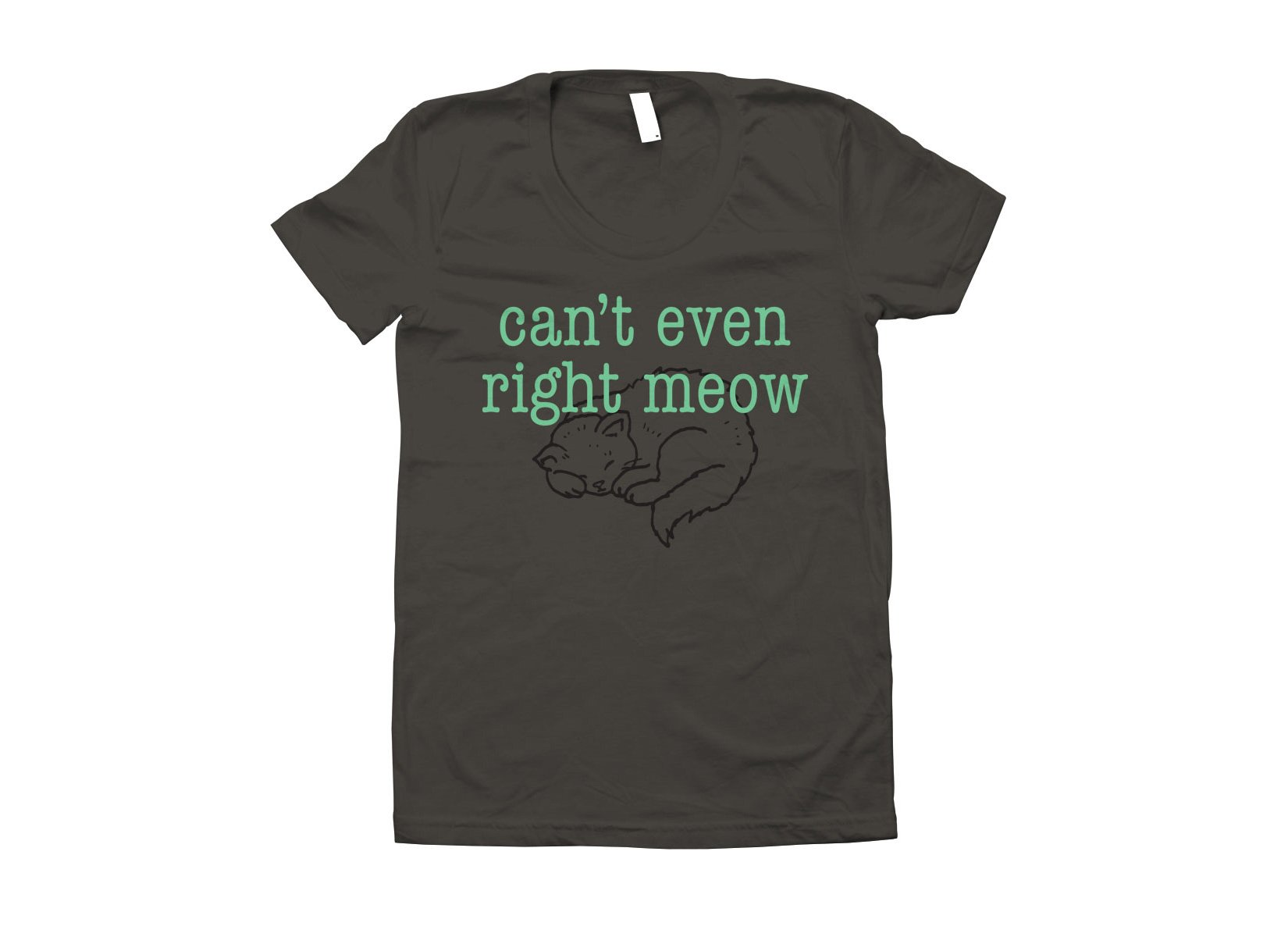 Can't Even Right Meow on Juniors T-Shirt