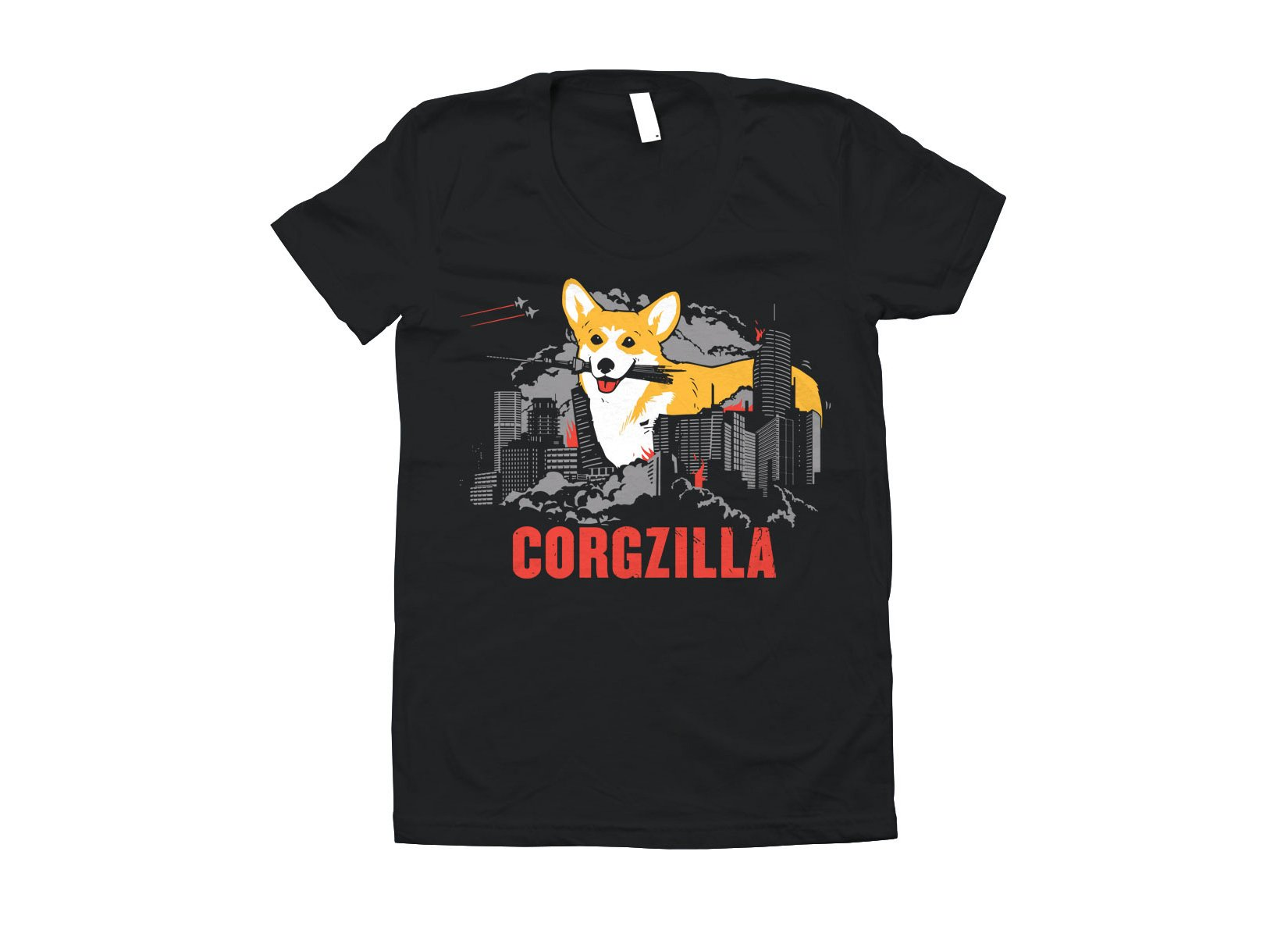 Corgzilla on Juniors T-Shirt