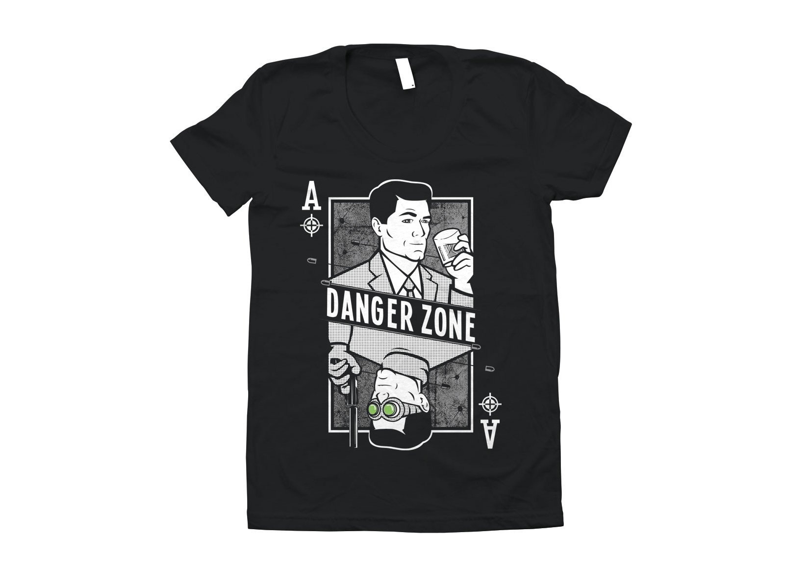 Danger Zone on Juniors T-Shirt