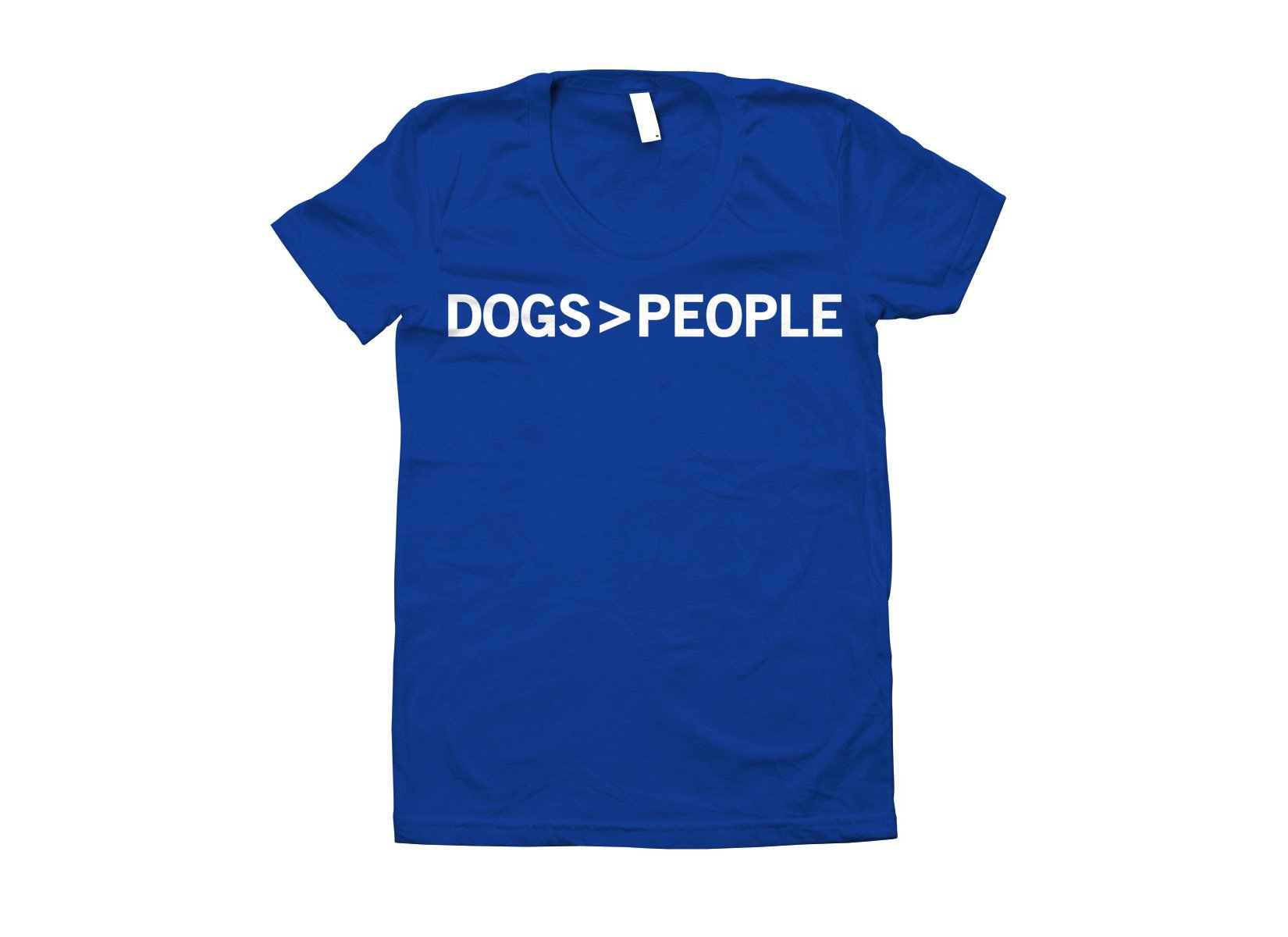Dogs>People on Juniors T-Shirt