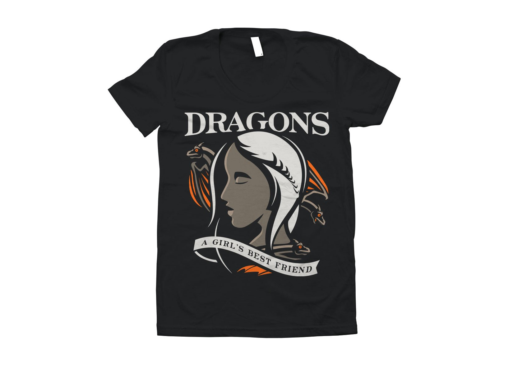 Dragons Are A Girl's Best Friend on Juniors T-Shirt