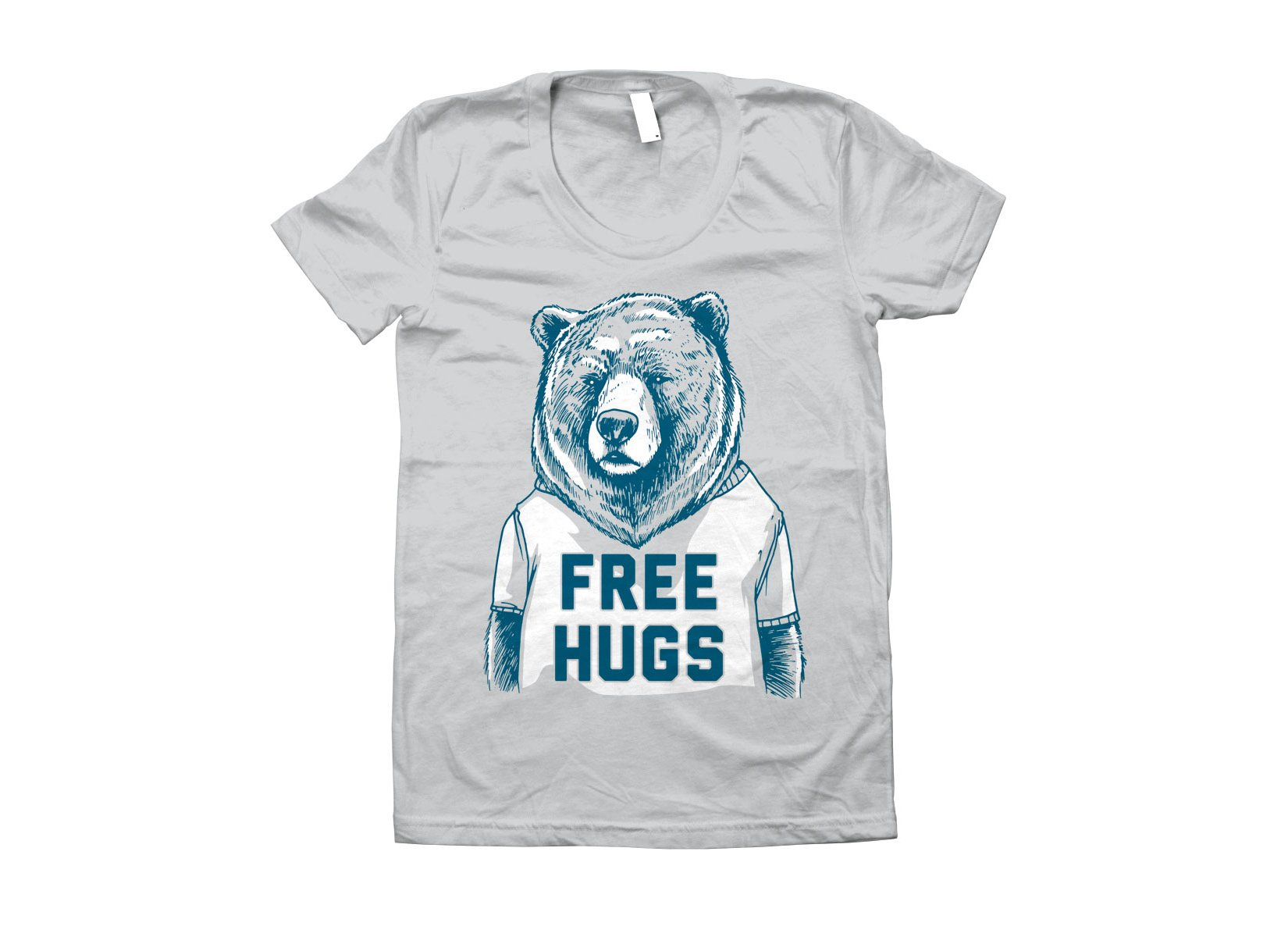 Free Hugs Bear on Juniors T-Shirt