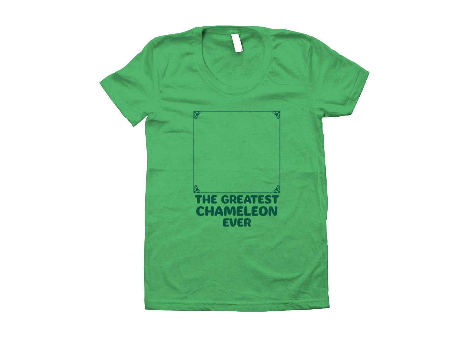 The Greatest Chameleon Ever on Juniors T-Shirt