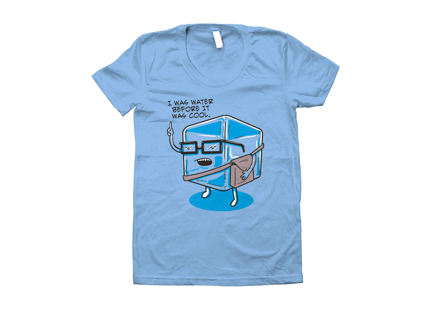 Hipster Ice Cube on Juniors T-Shirt
