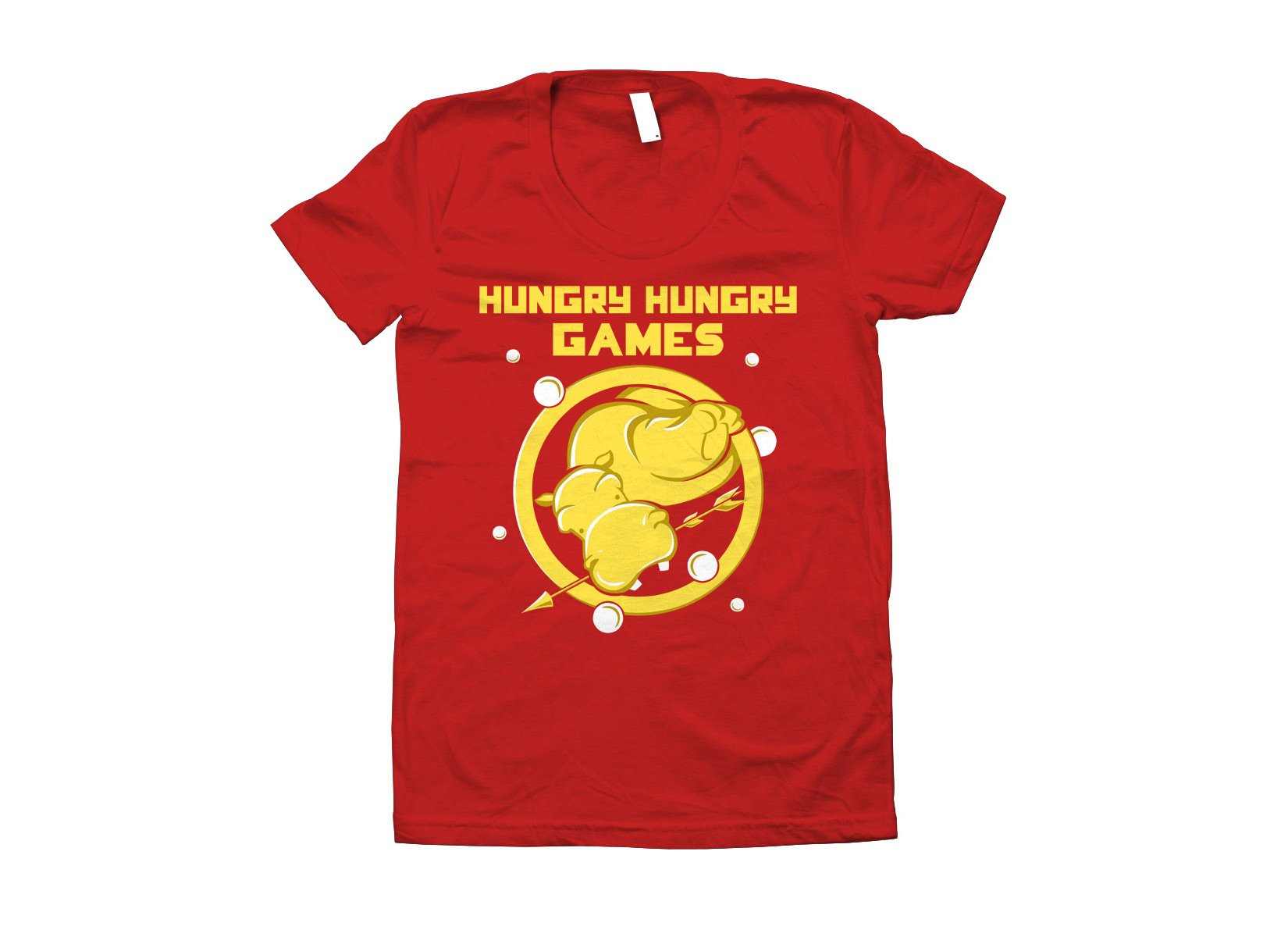 Hungry Hungry Games on Juniors T-Shirt