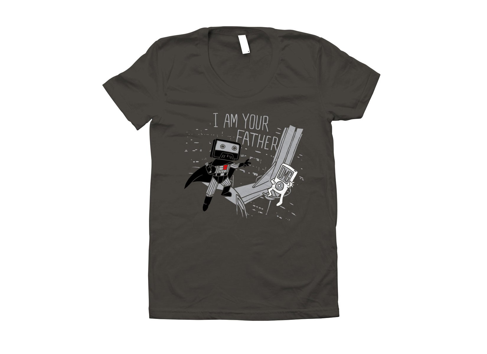 I Am Your Father Cassette on Juniors T-Shirt
