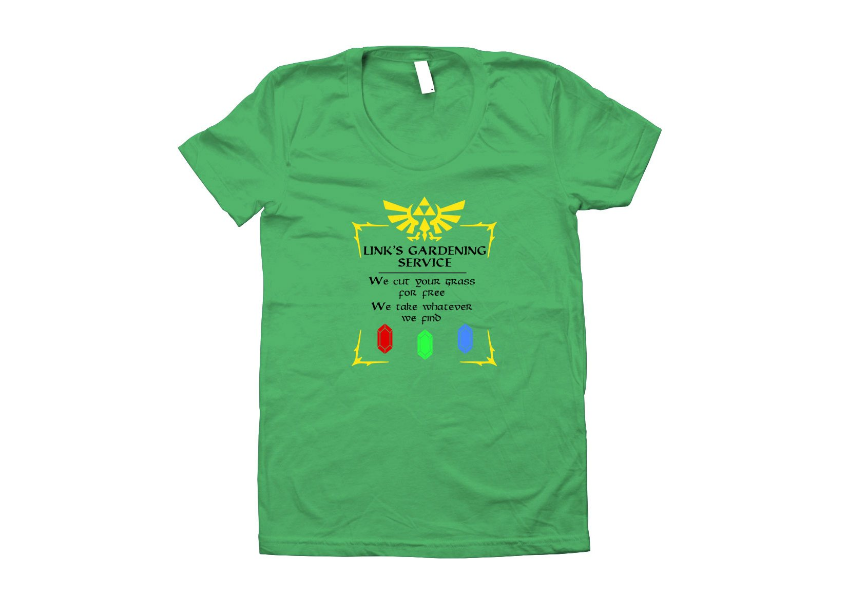 Link's Gardening Service on Juniors T-Shirt