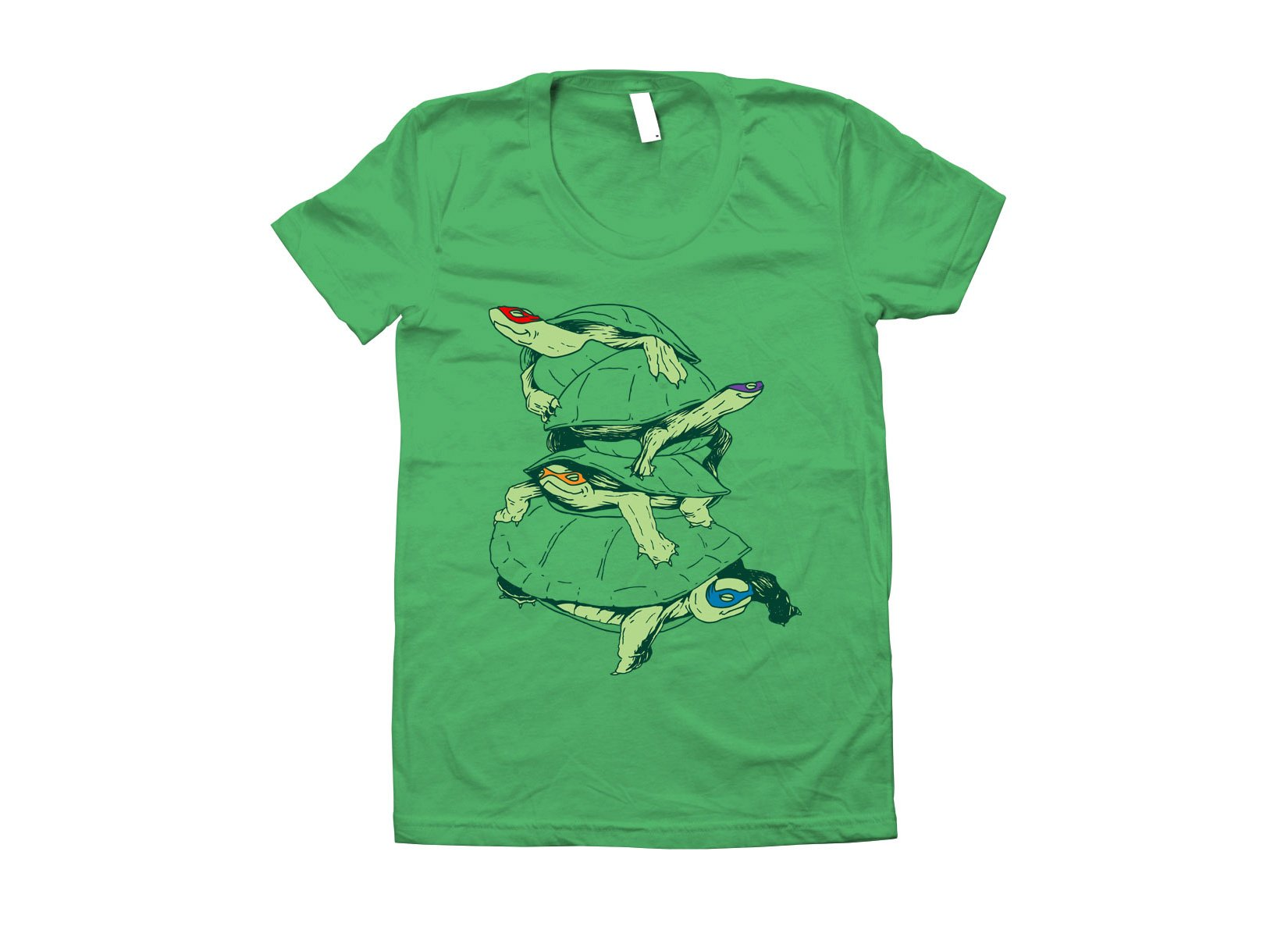 Masked Turtles on Juniors T-Shirt