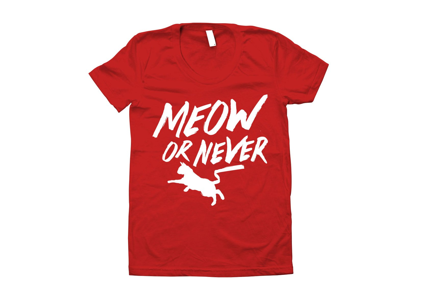 Meow Or Never on Juniors T-Shirt