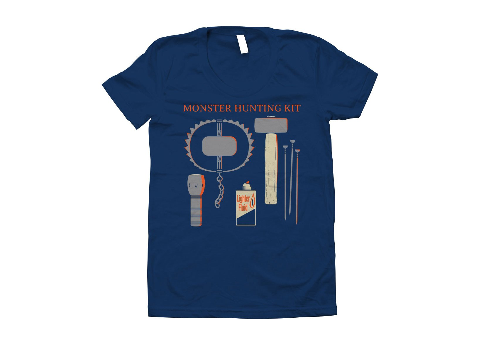 Monster Hunting Kit on Juniors T-Shirt