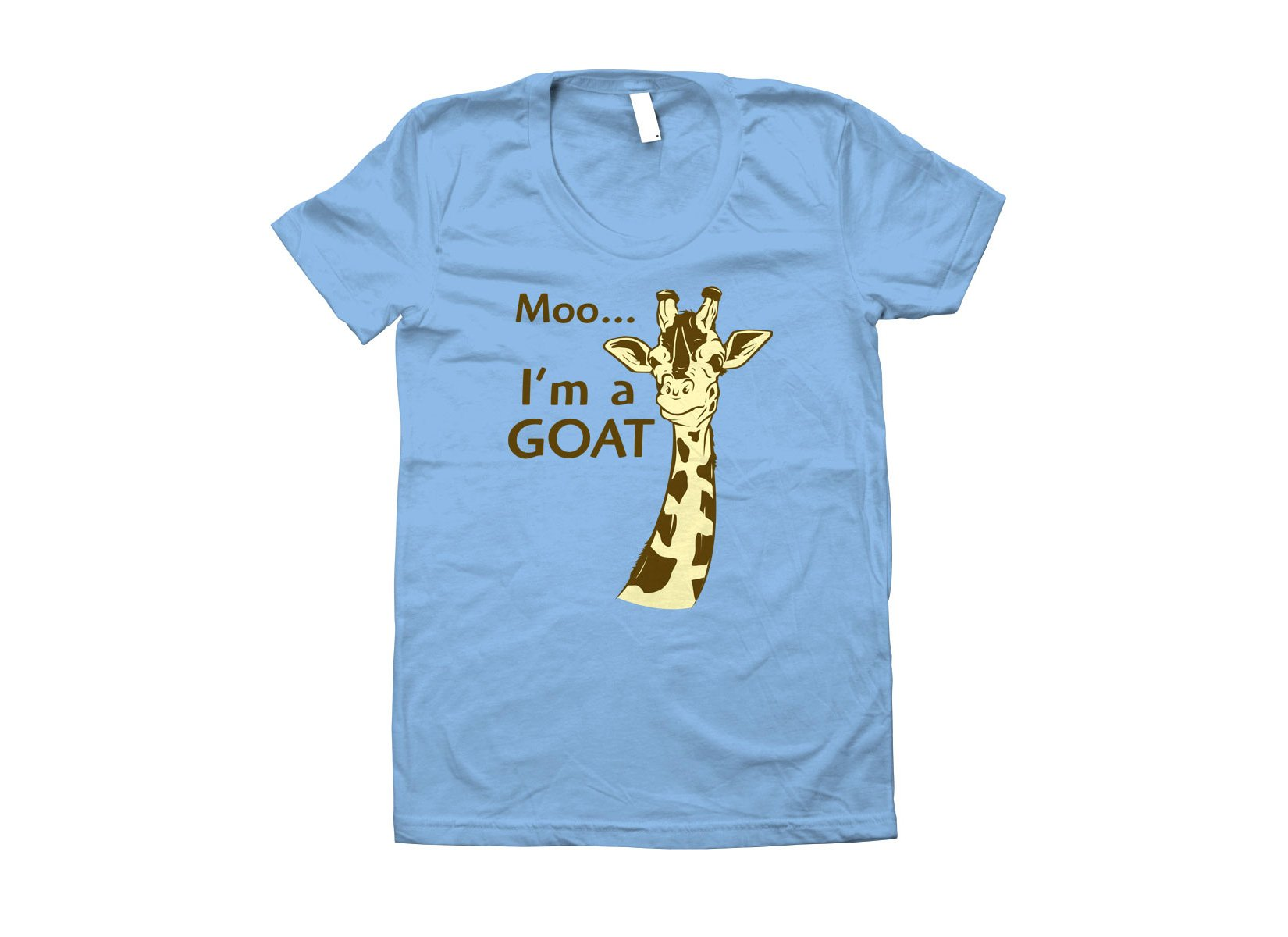 Moo, I'm A Goat on Juniors T-Shirt