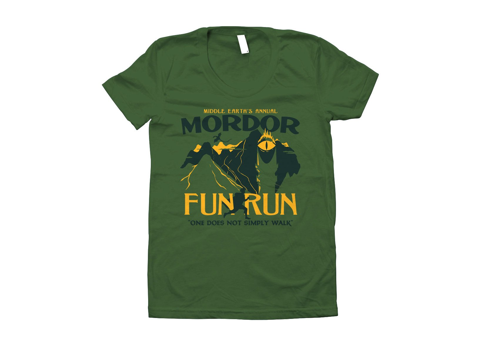 Mordor Fun Run on Juniors T-Shirt