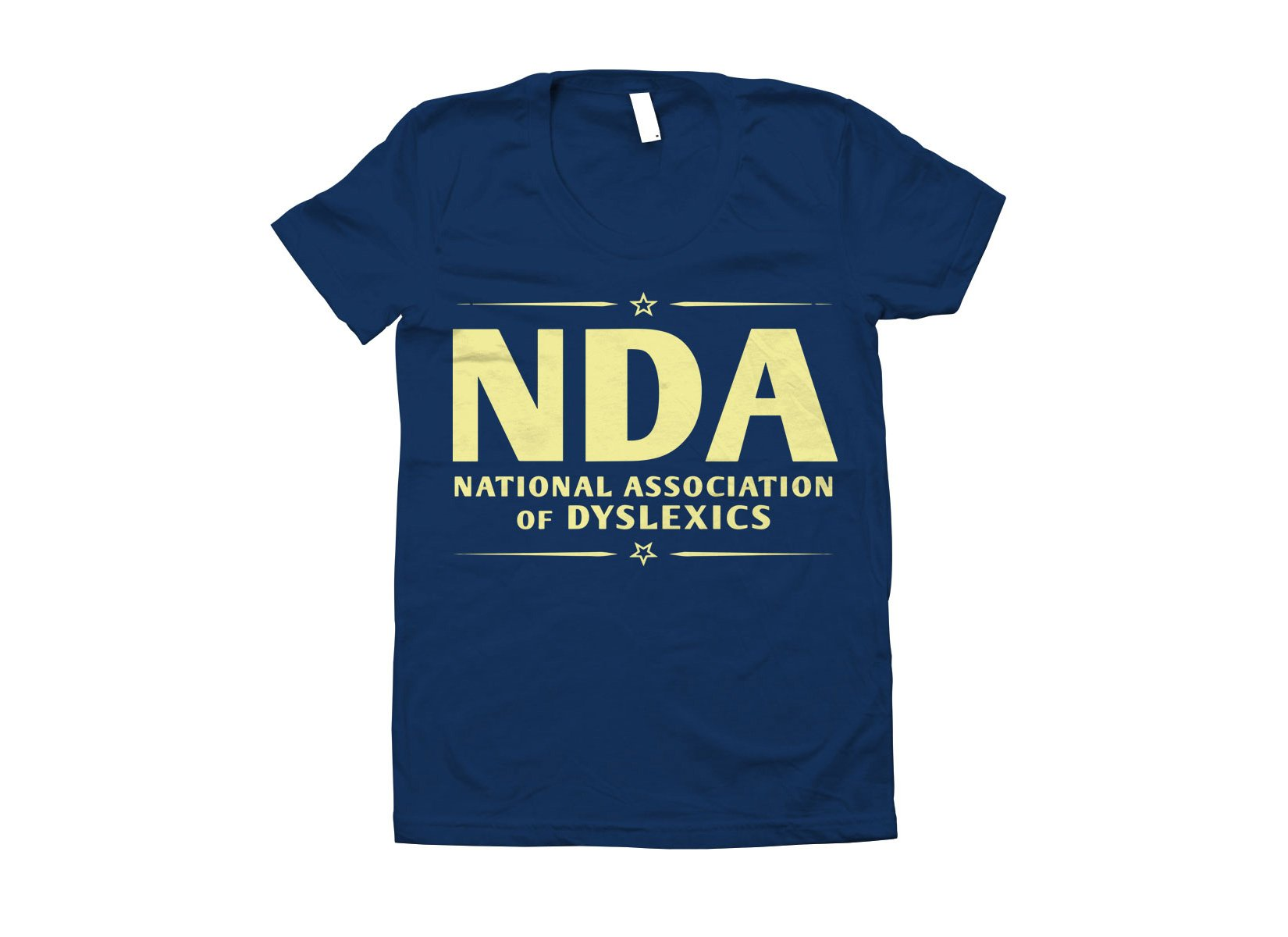 National Association of Dyslexics on Juniors T-Shirt