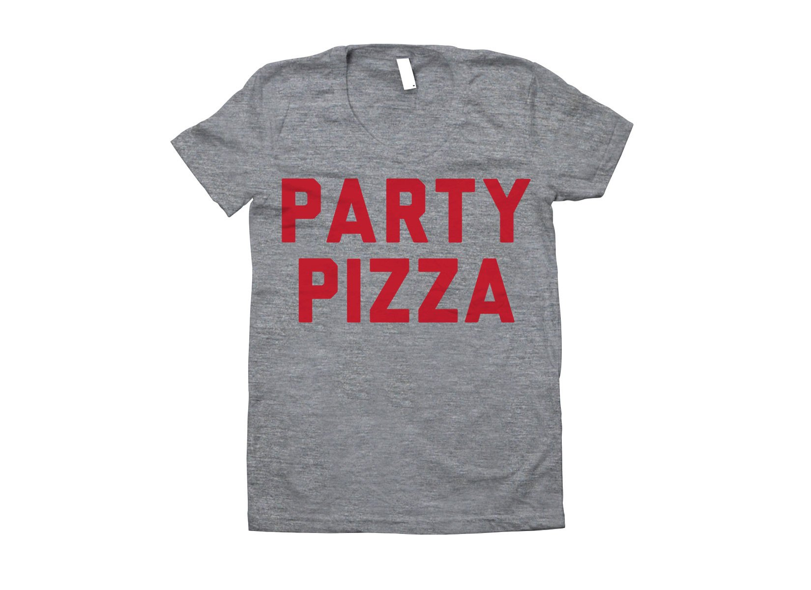 Party Pizza on Juniors T-Shirt