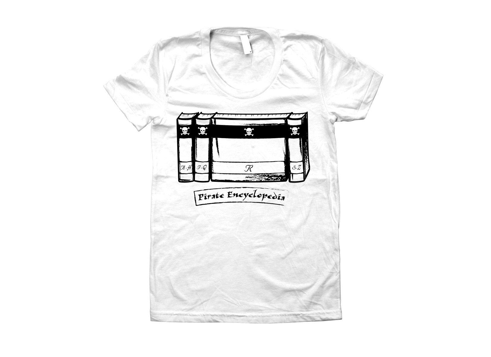 Pirate Encyclopedia on Juniors T-Shirt