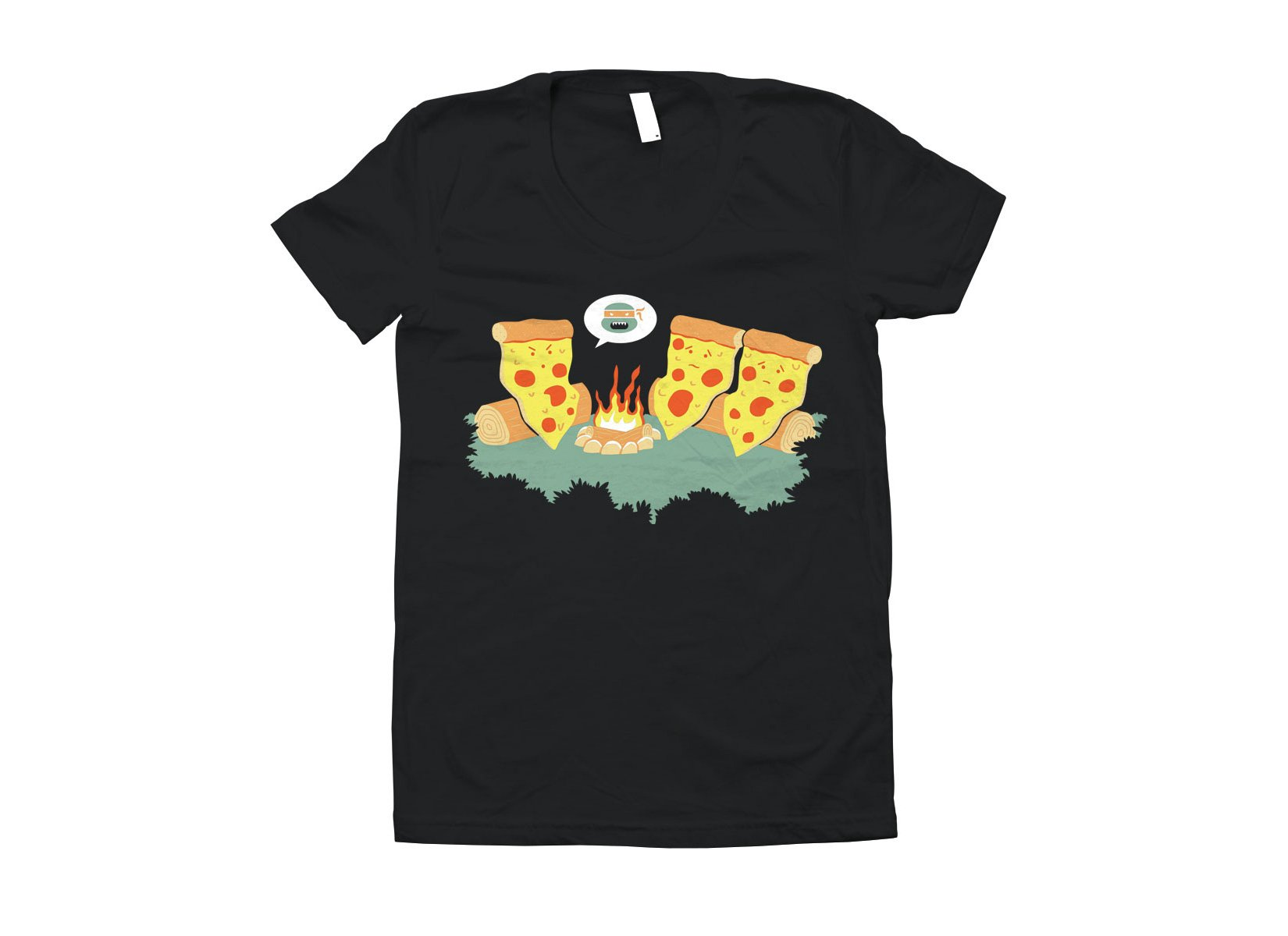 Pizza Campfire Story on Juniors T-Shirt