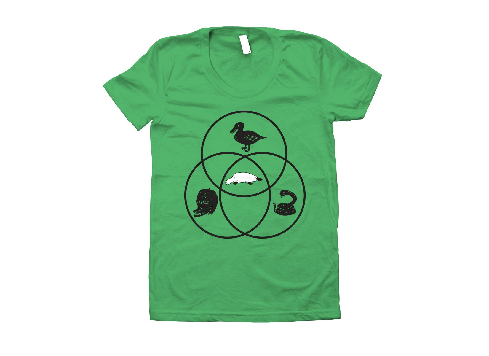 Platypus Venn Diagram on Juniors T-Shirt