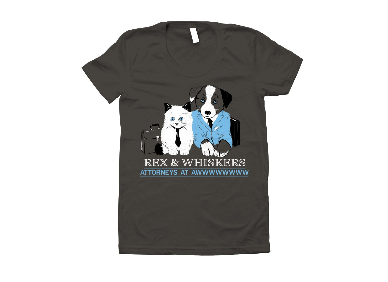 Rex and Whiskers Attorneys on Juniors T-Shirt