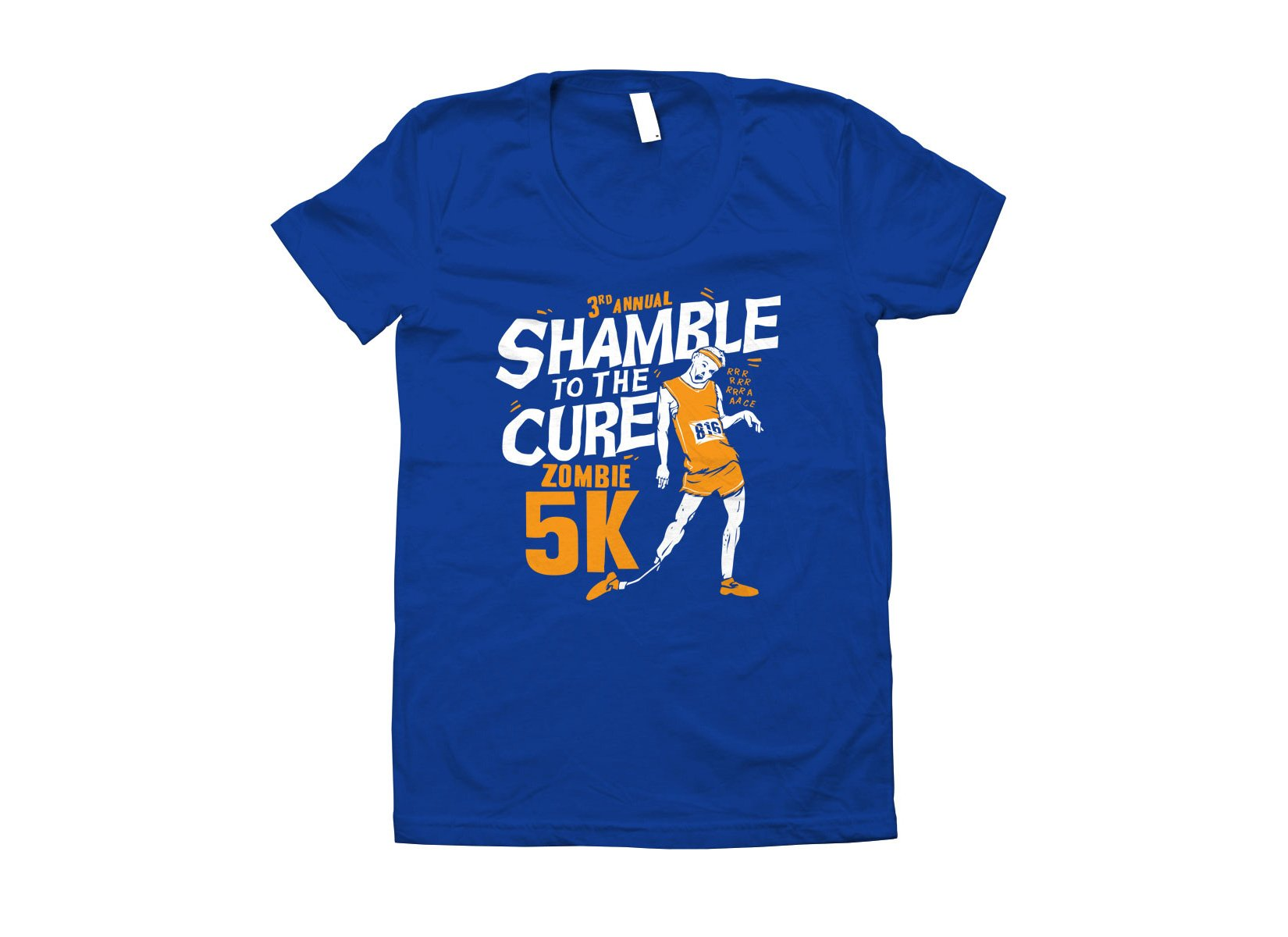 Shamble To The Cure Zombie 5K on Juniors T-Shirt