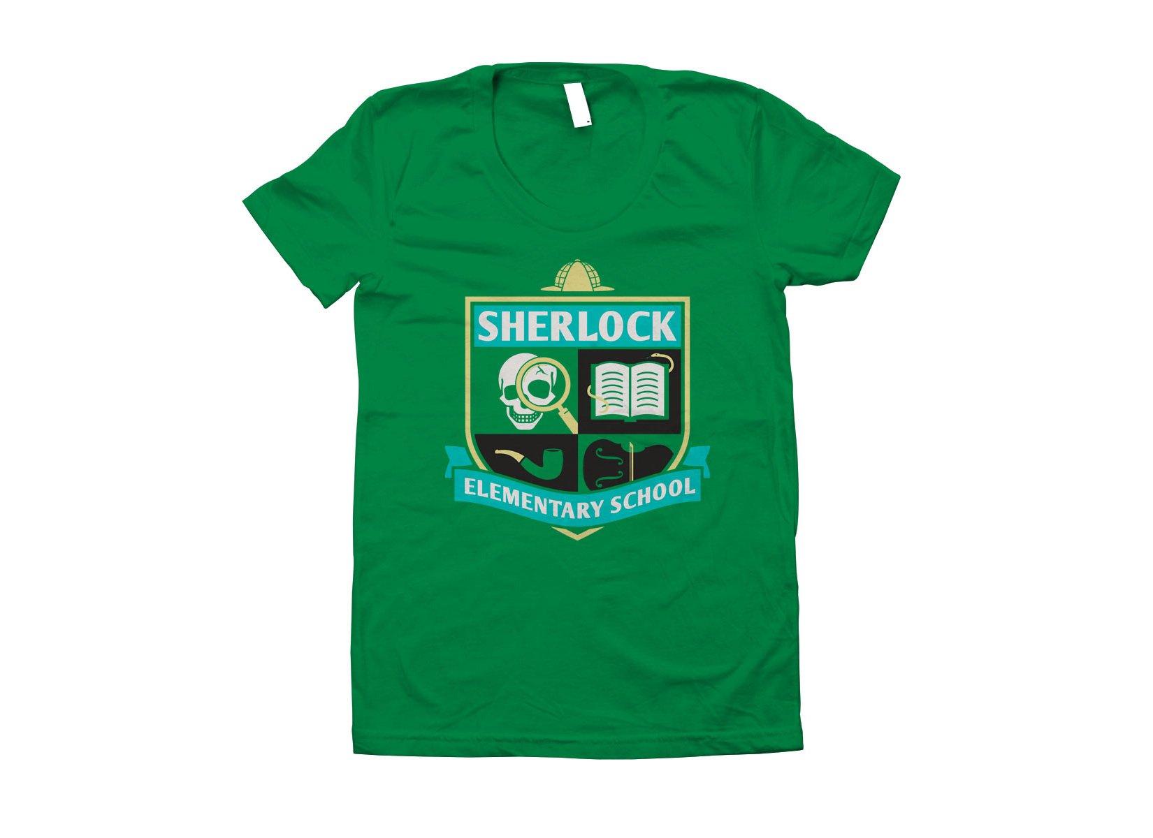 Sherlock Elementary School on Juniors T-Shirt