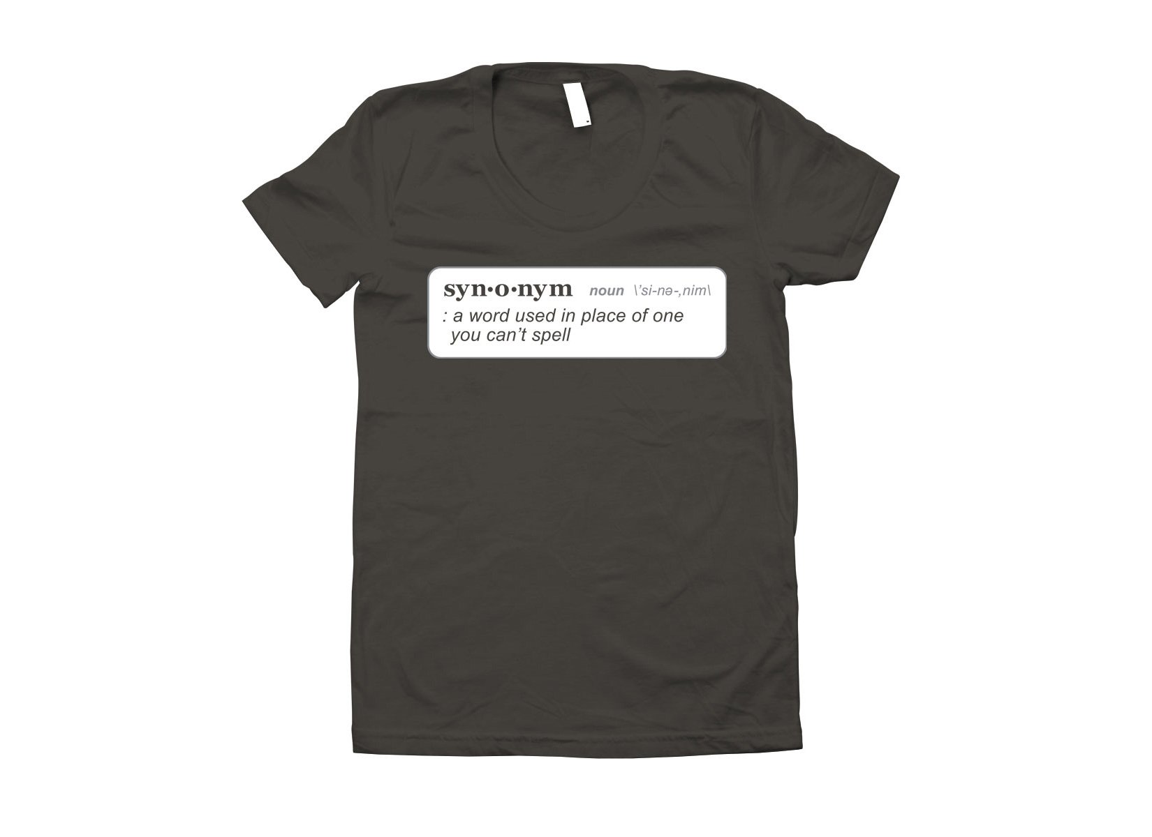 Synonym Definition on Juniors T-Shirt