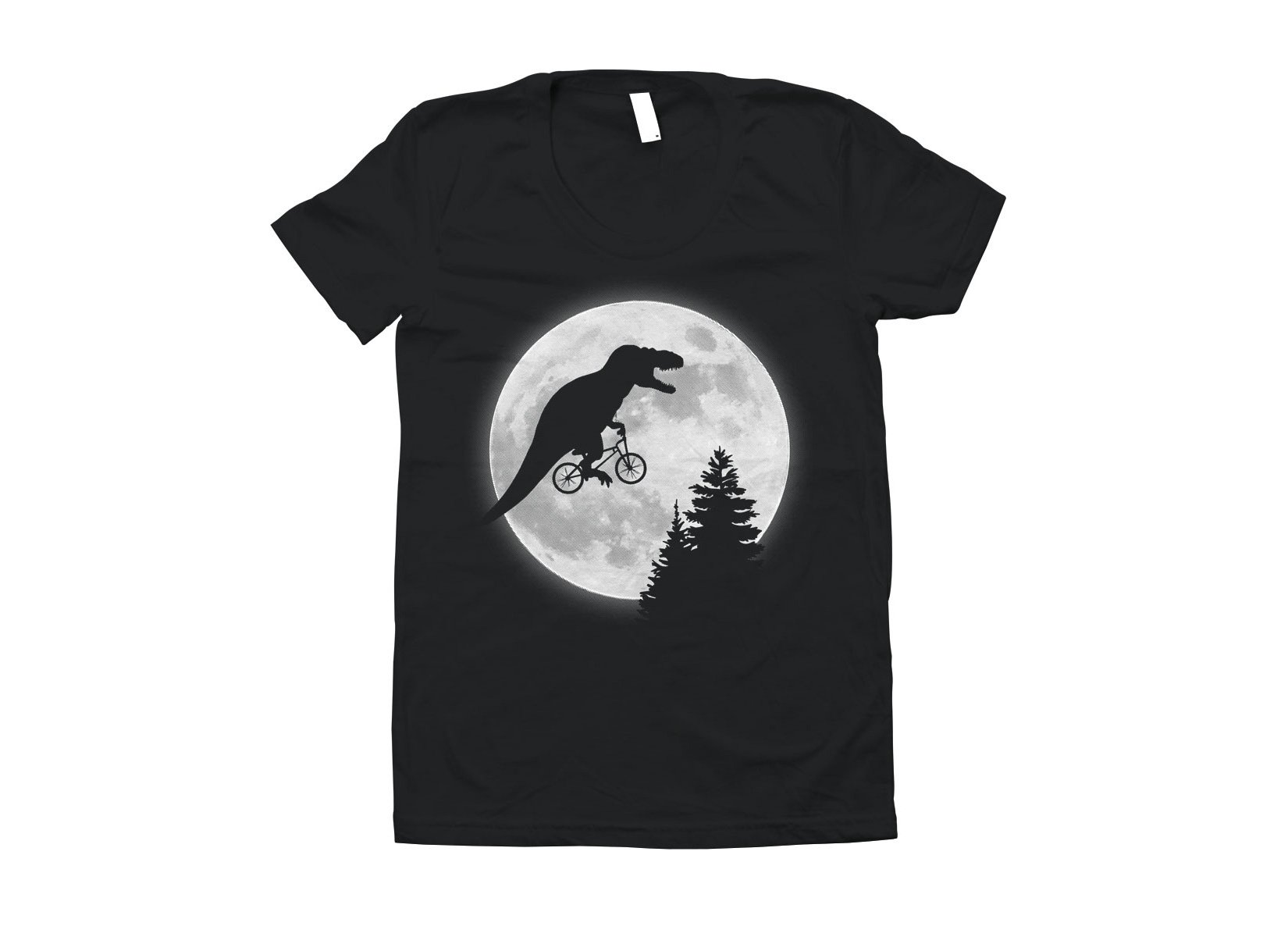 T-Rex Moon on Juniors T-Shirt