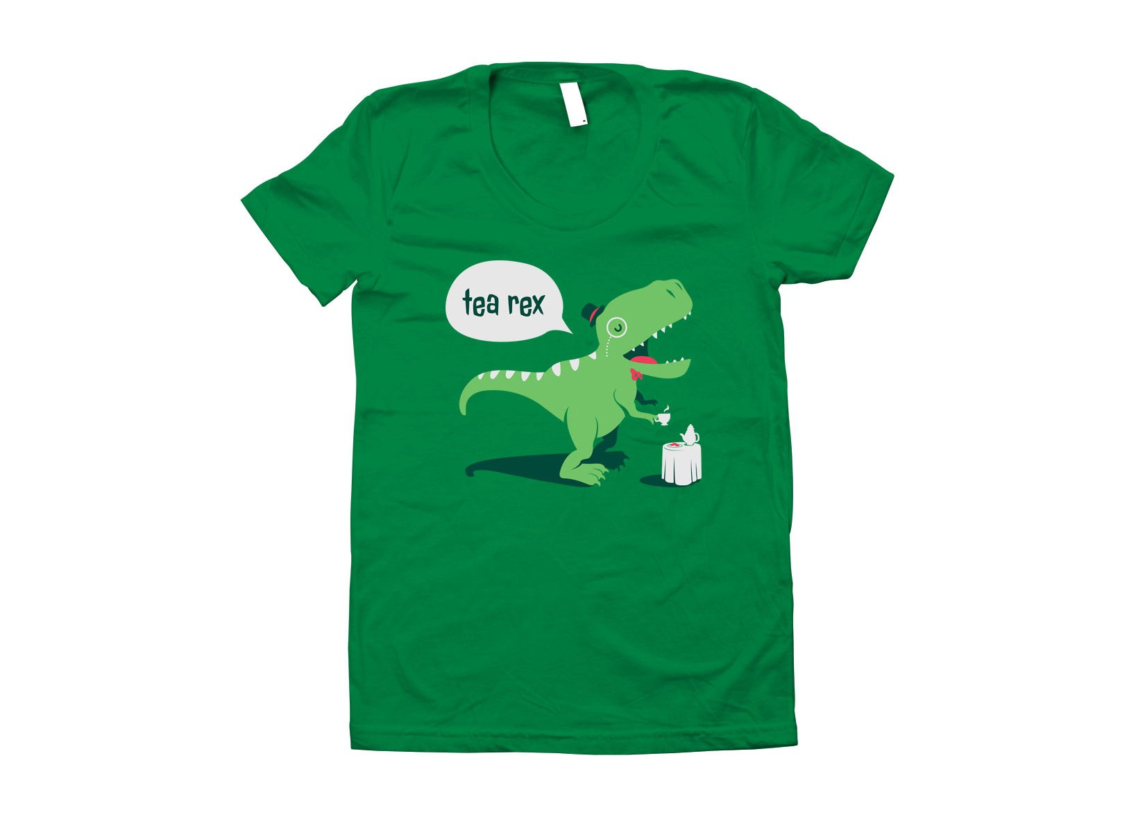 Tea Rex on Juniors T-Shirt