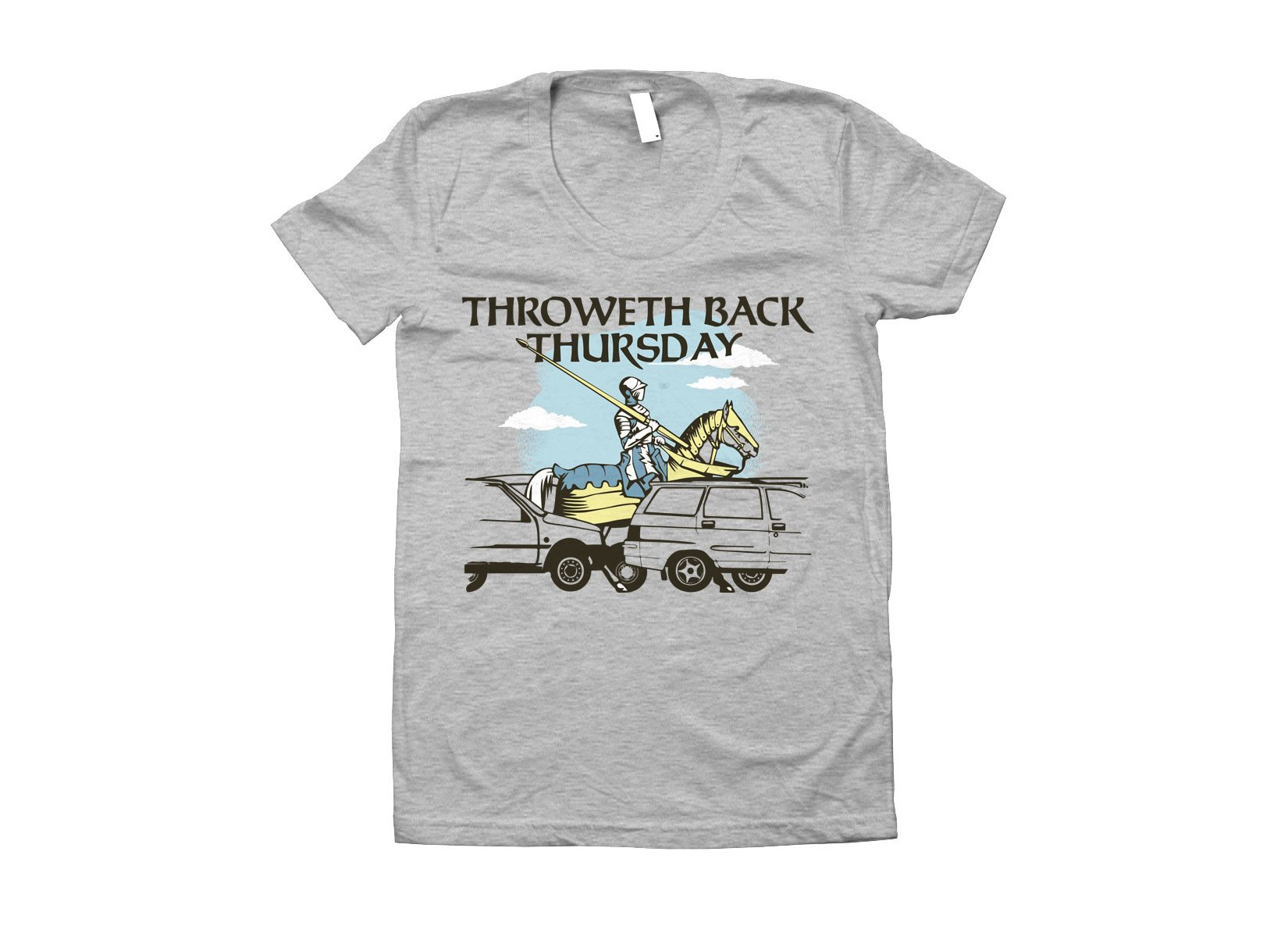 Throweth Back Thursday on Juniors T-Shirt
