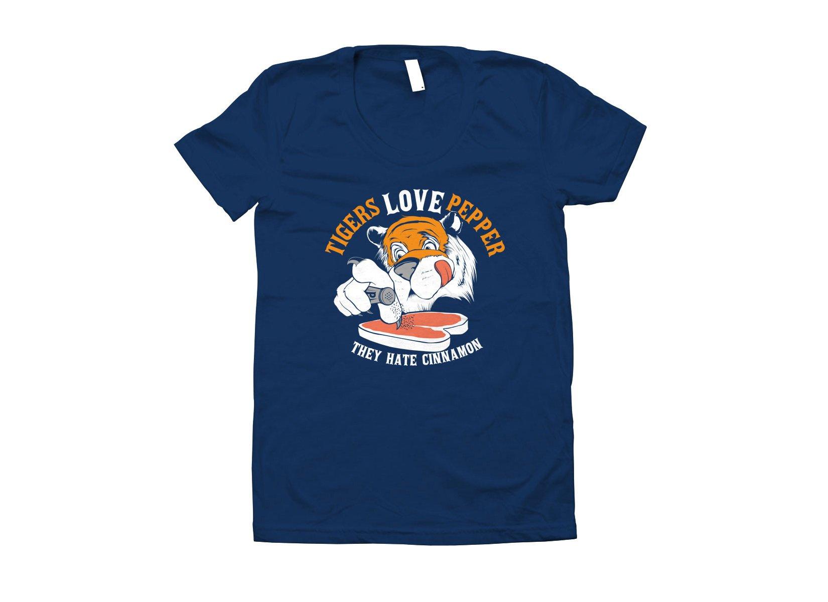 Tigers Love Pepper on Juniors T-Shirt