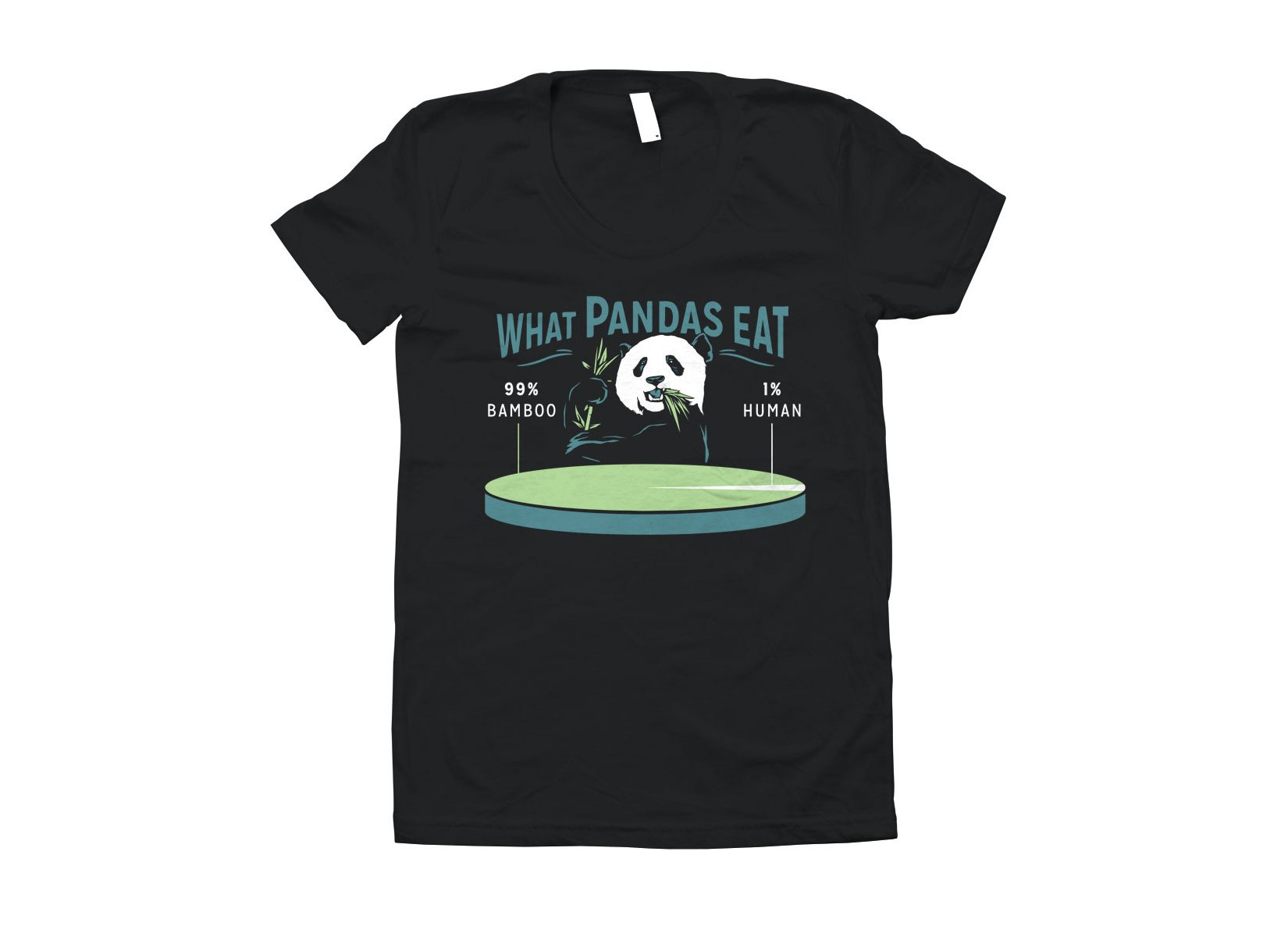 What Pandas Eat on Juniors T-Shirt