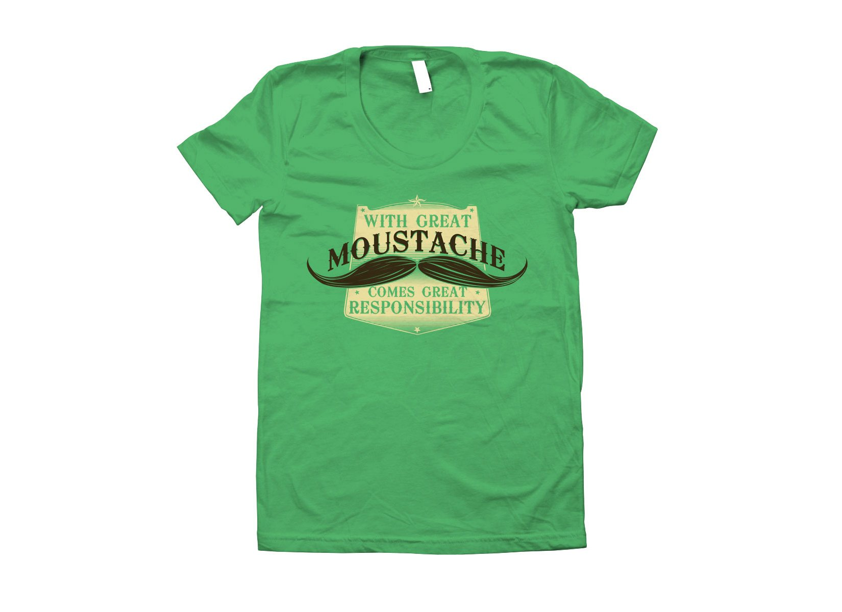 With Great Moustache on Juniors T-Shirt
