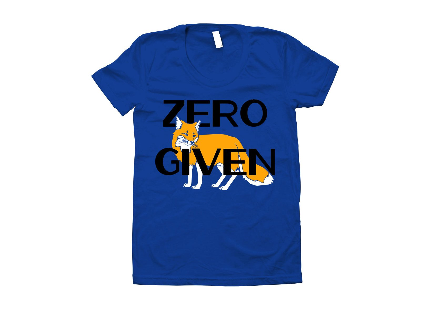 Zero Fox Given on Juniors T-Shirt