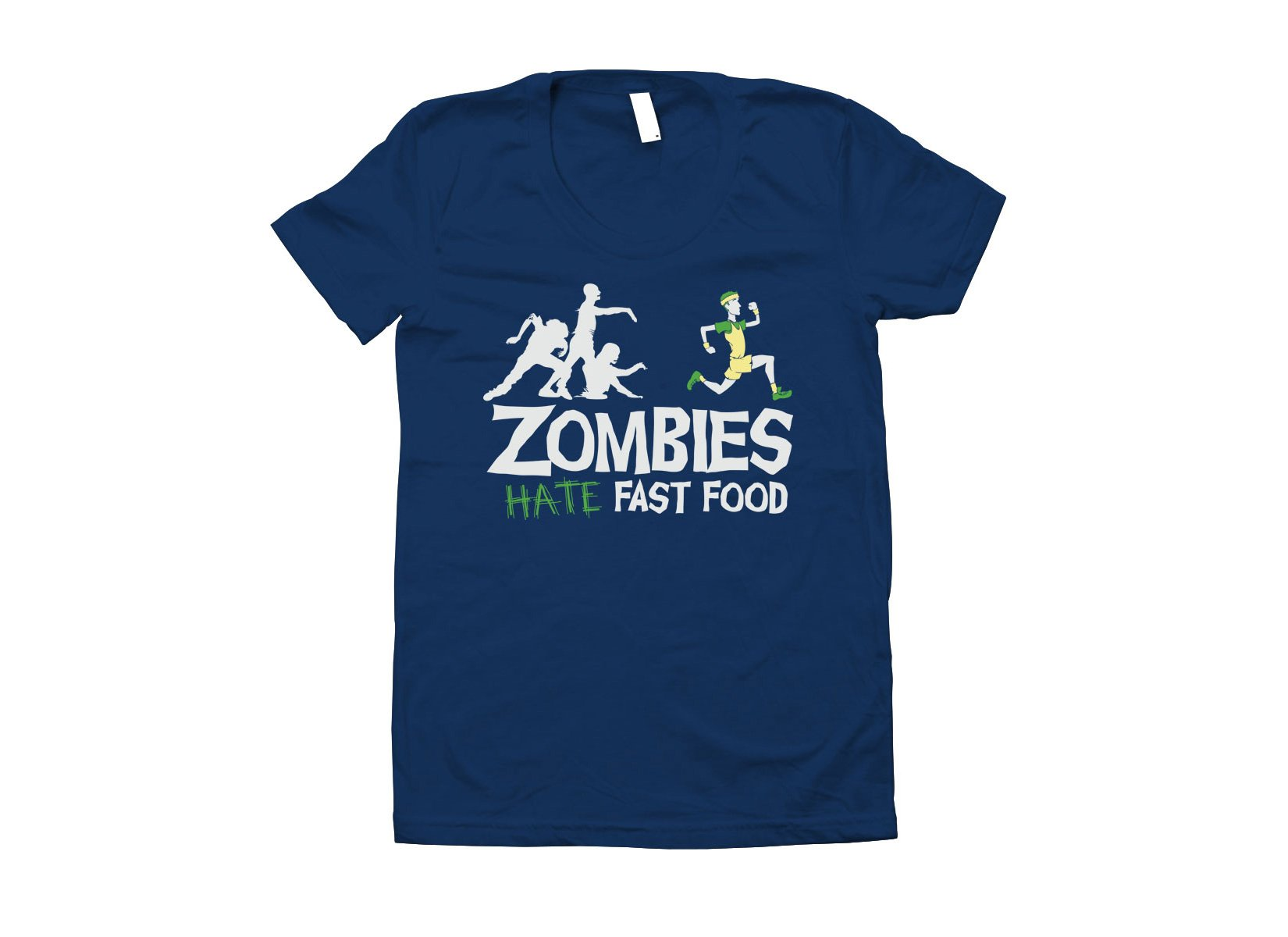 Zombies Hate Fast Food on Juniors T-Shirt