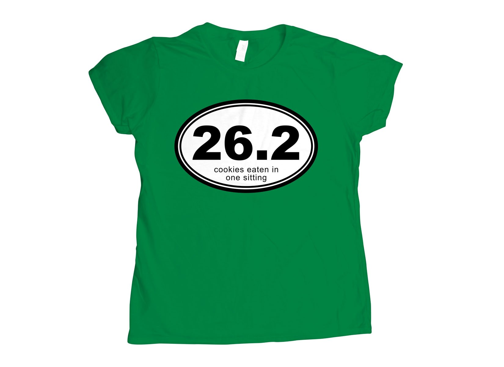 26.2 Cookies Eaten In One Sitting on Womens T-Shirt