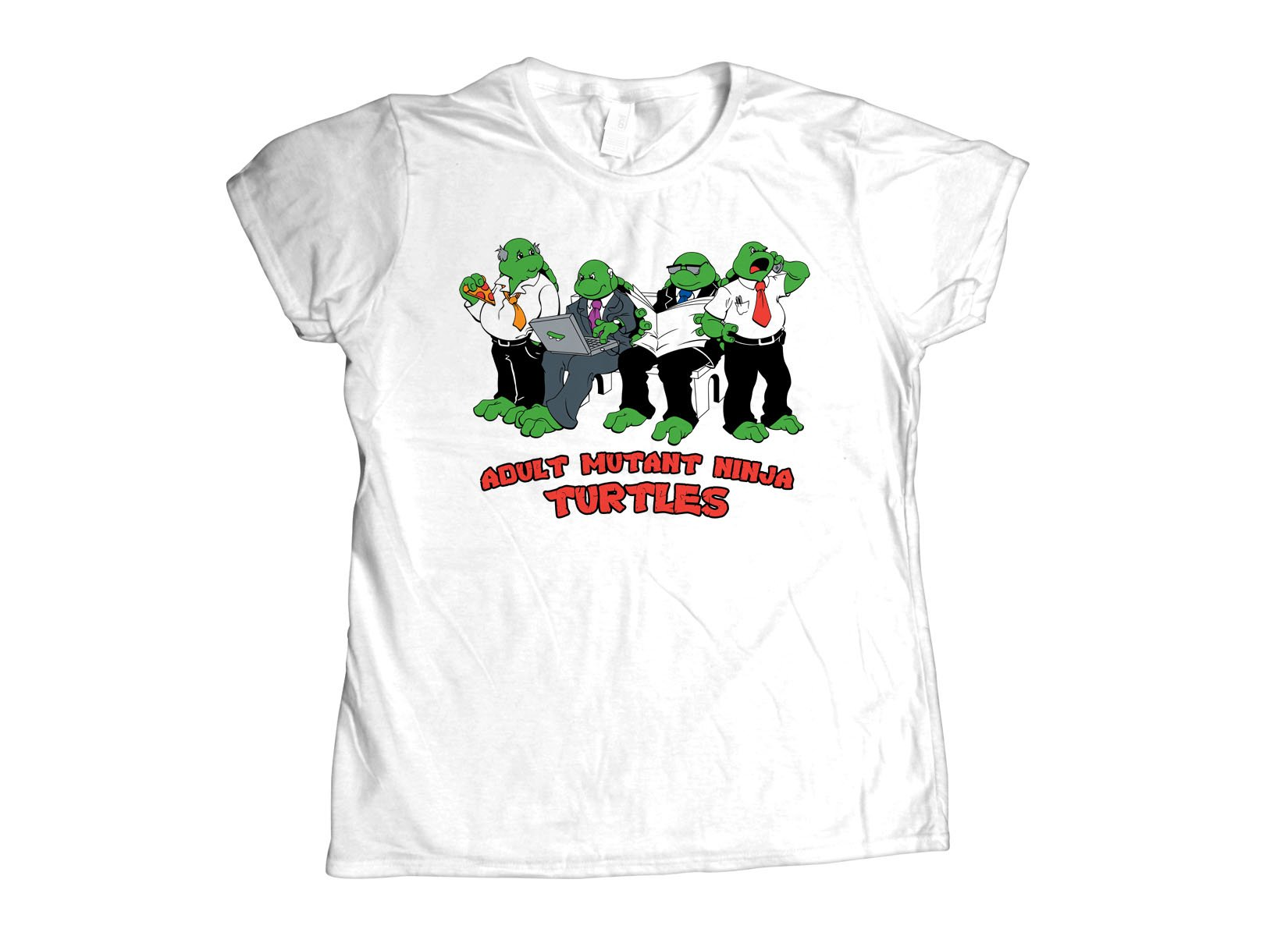 Adult Mutant Ninja Turtles on Womens T-Shirt