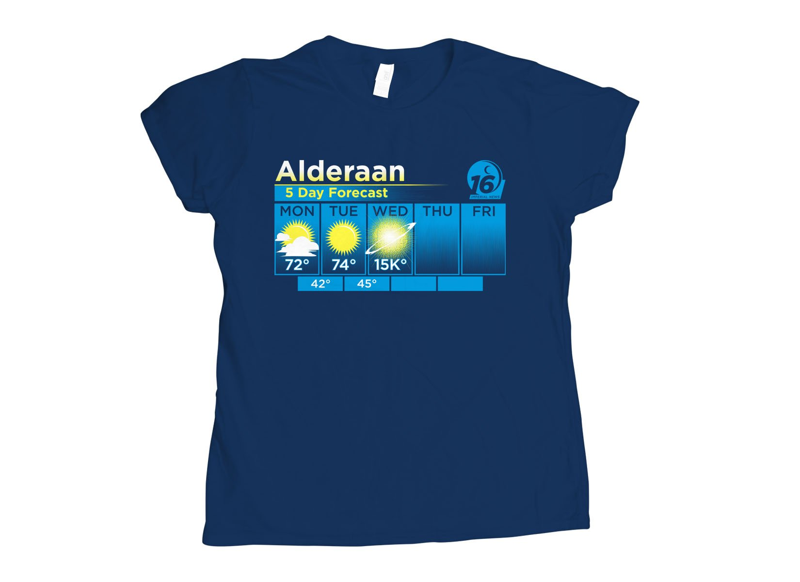 Alderaan 5 Day Forecast on Womens T-Shirt
