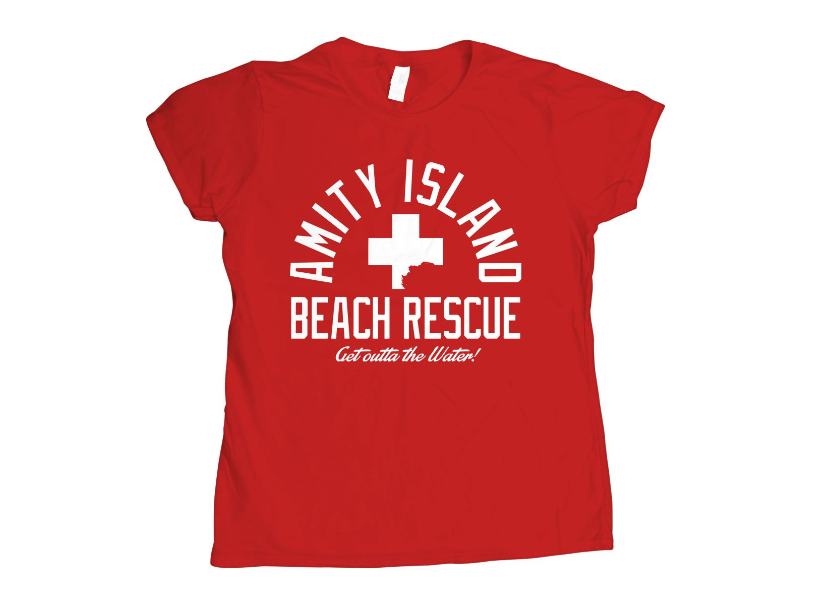 Amity Island Beach Rescue on Womens T-Shirt
