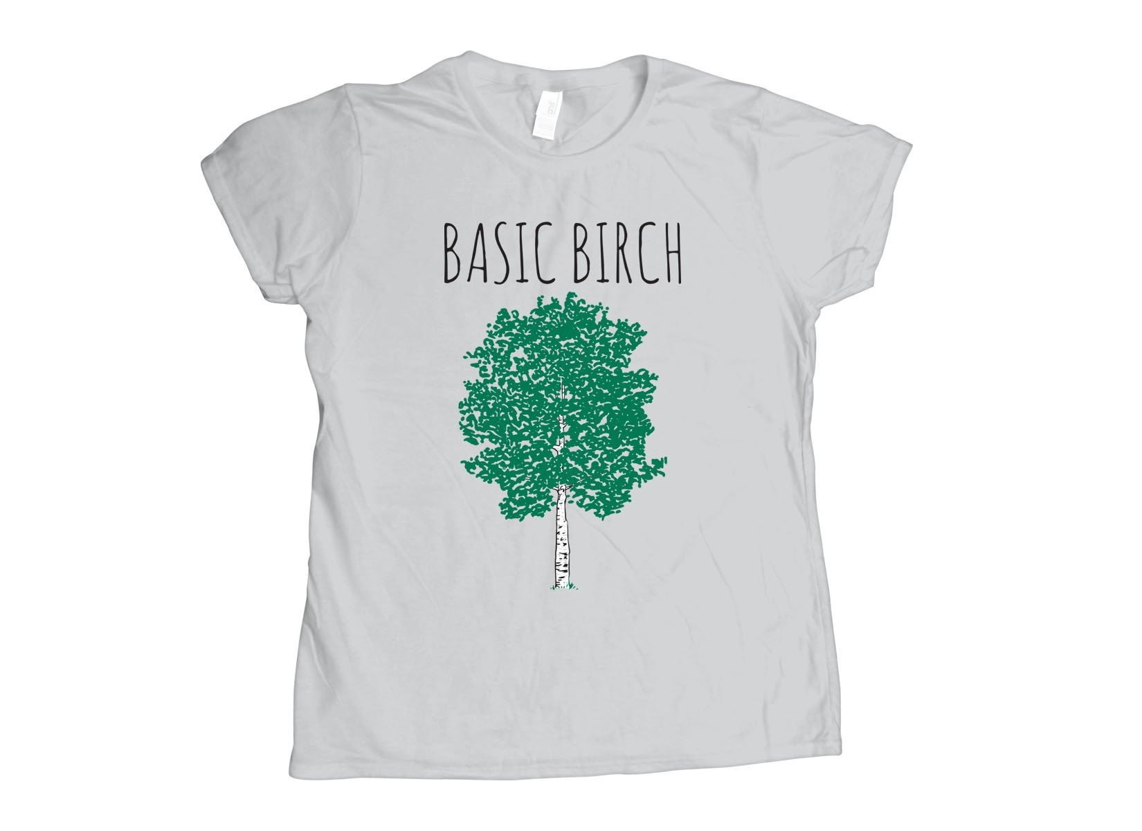 Basic Birch on Womens T-Shirt