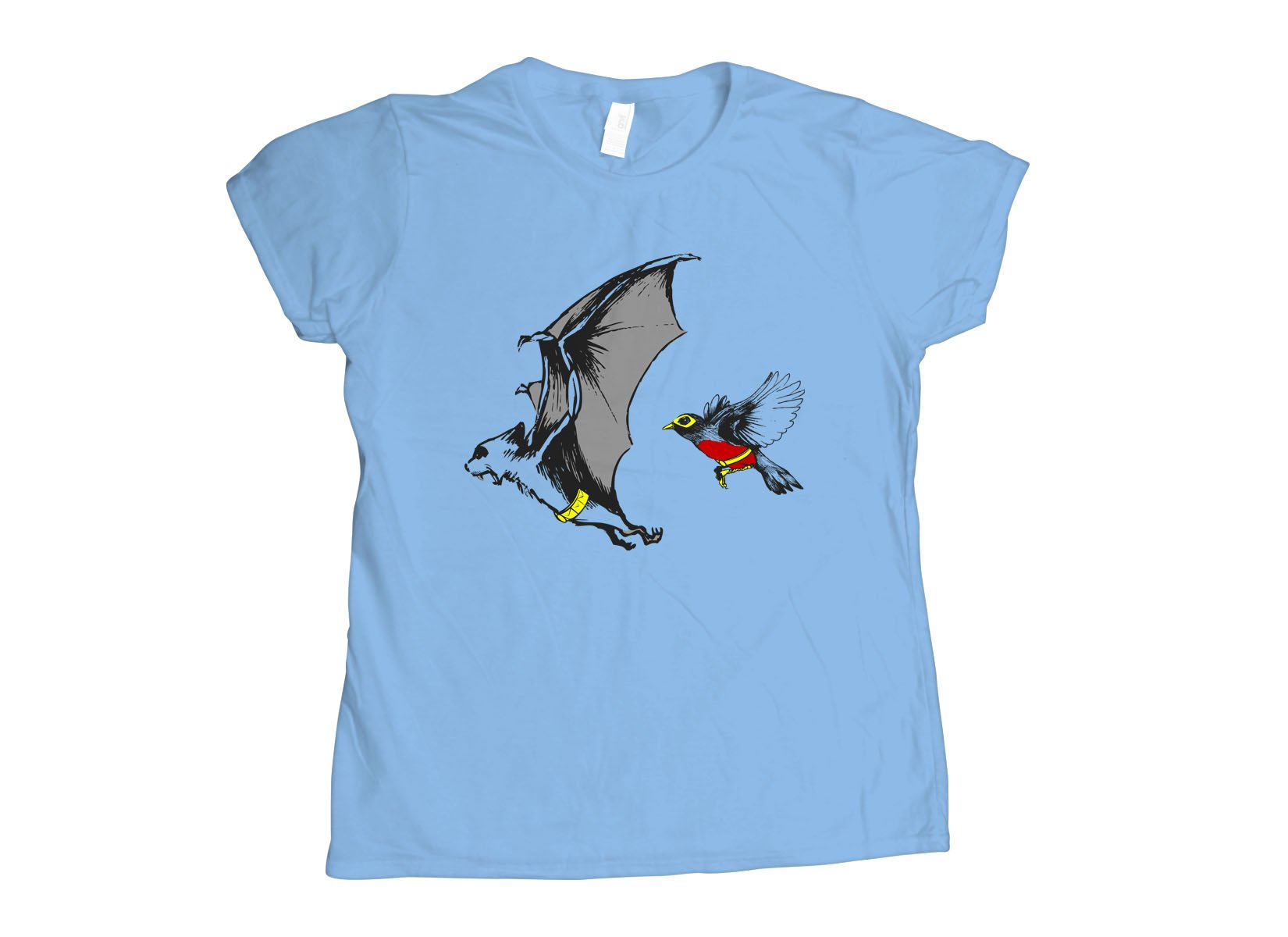 Bat And Robin on Womens T-Shirt