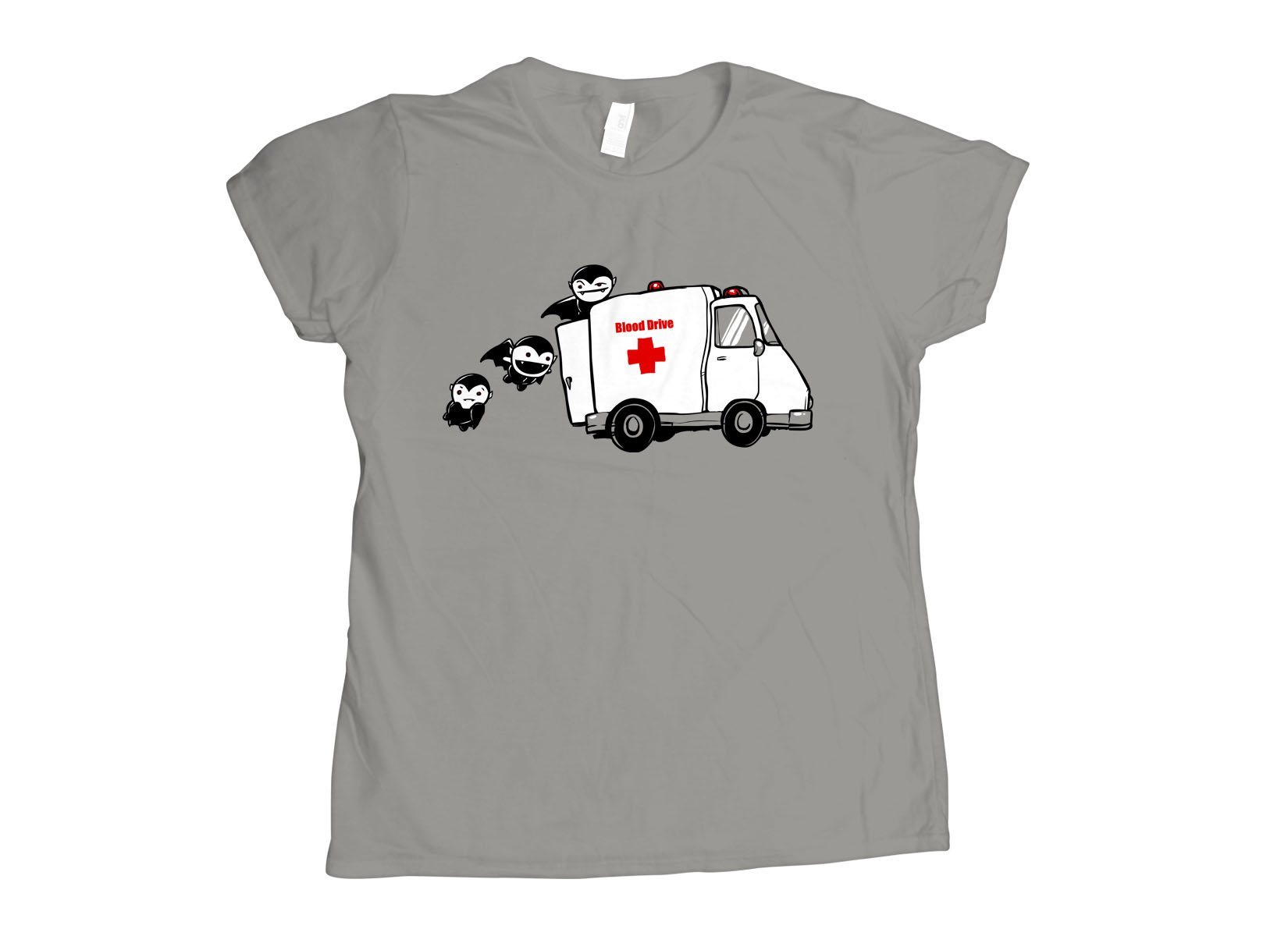 Blood Drive Vampires on Womens T-Shirt