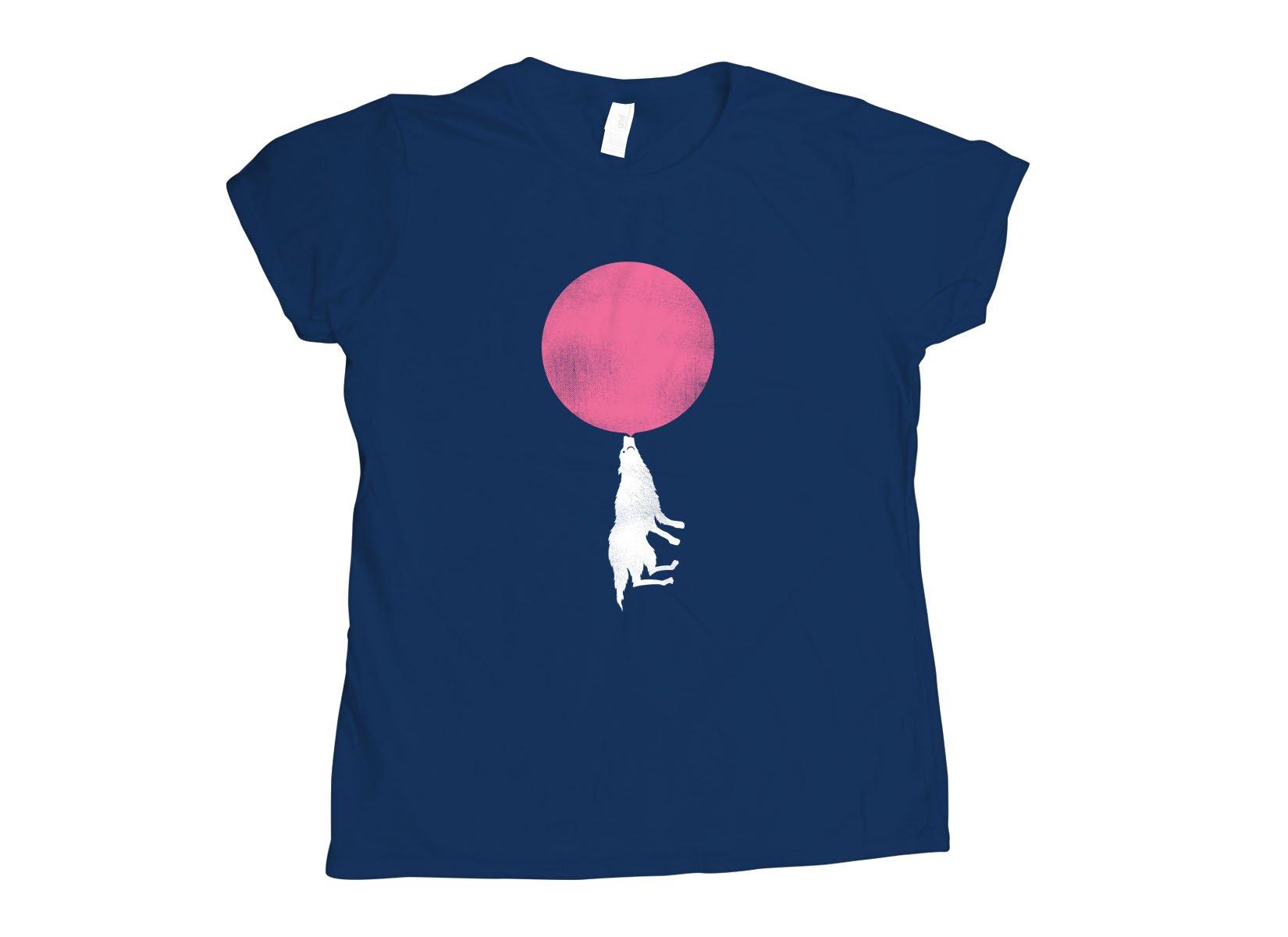Bubble Moon on Womens T-Shirt
