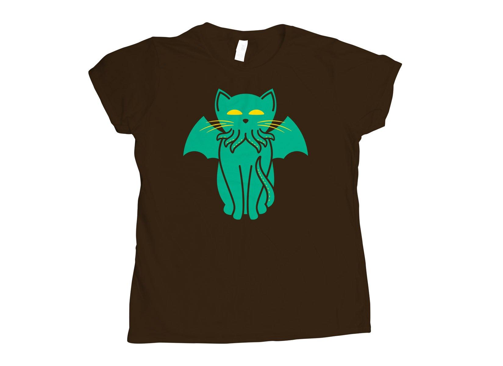 Cathulhu on Womens T-Shirt